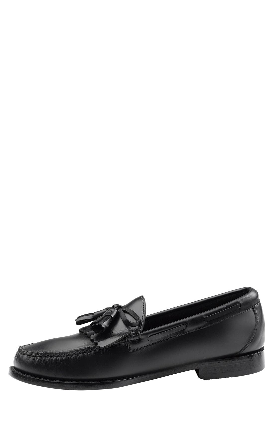 'Lawrence' Tassel Loafer,                             Alternate thumbnail 4, color,