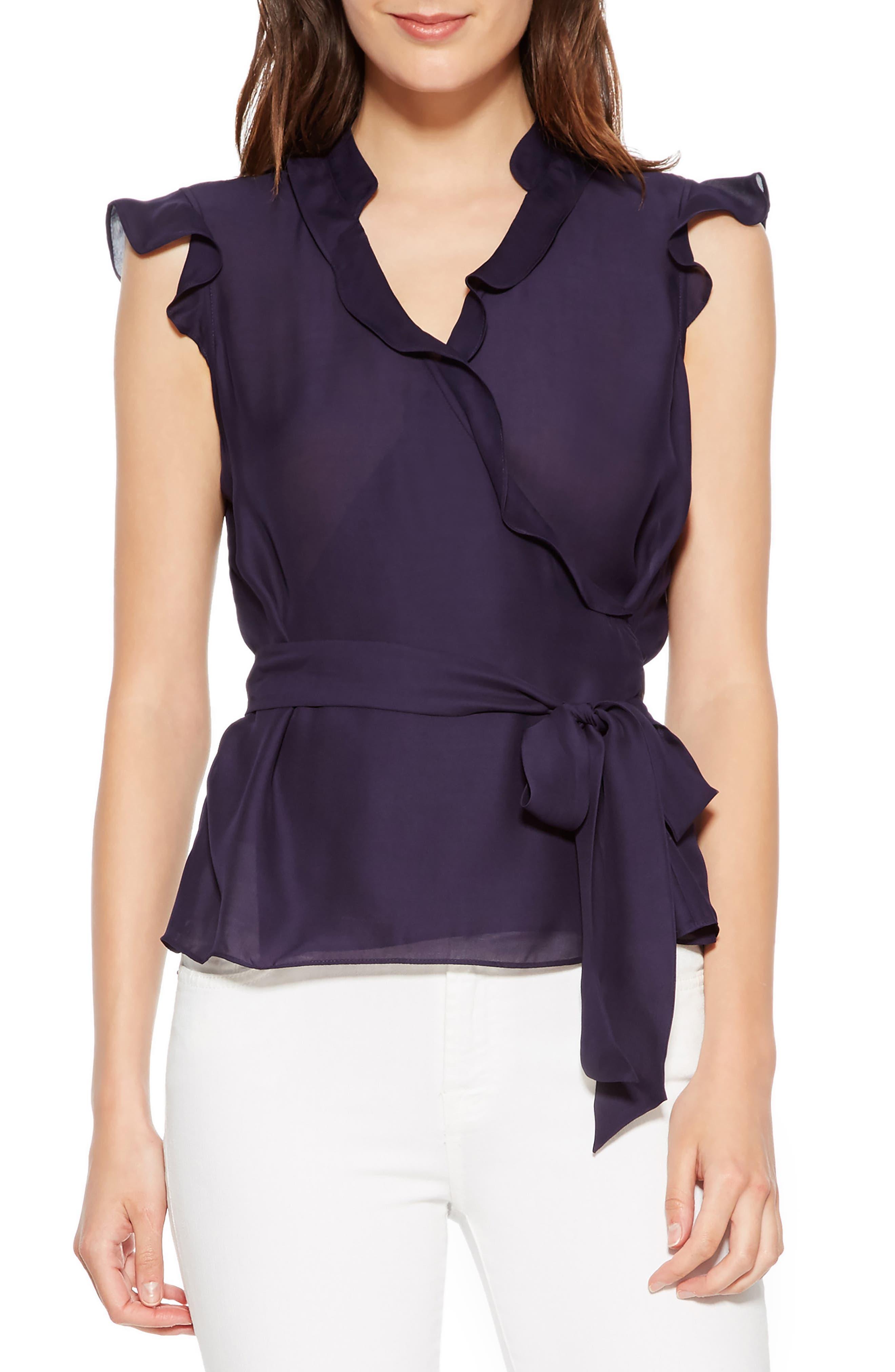 Miranda Sleeveless Silk Blend Top, Main, color, 493