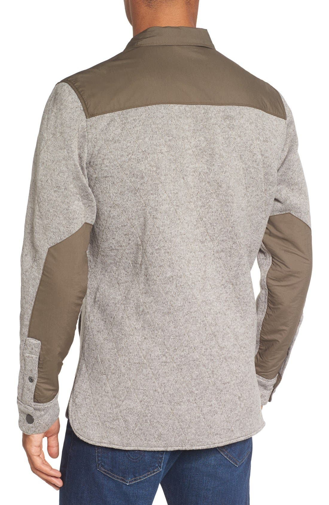 Quilted Fleece Shirt Jacket,                             Alternate thumbnail 4, color,