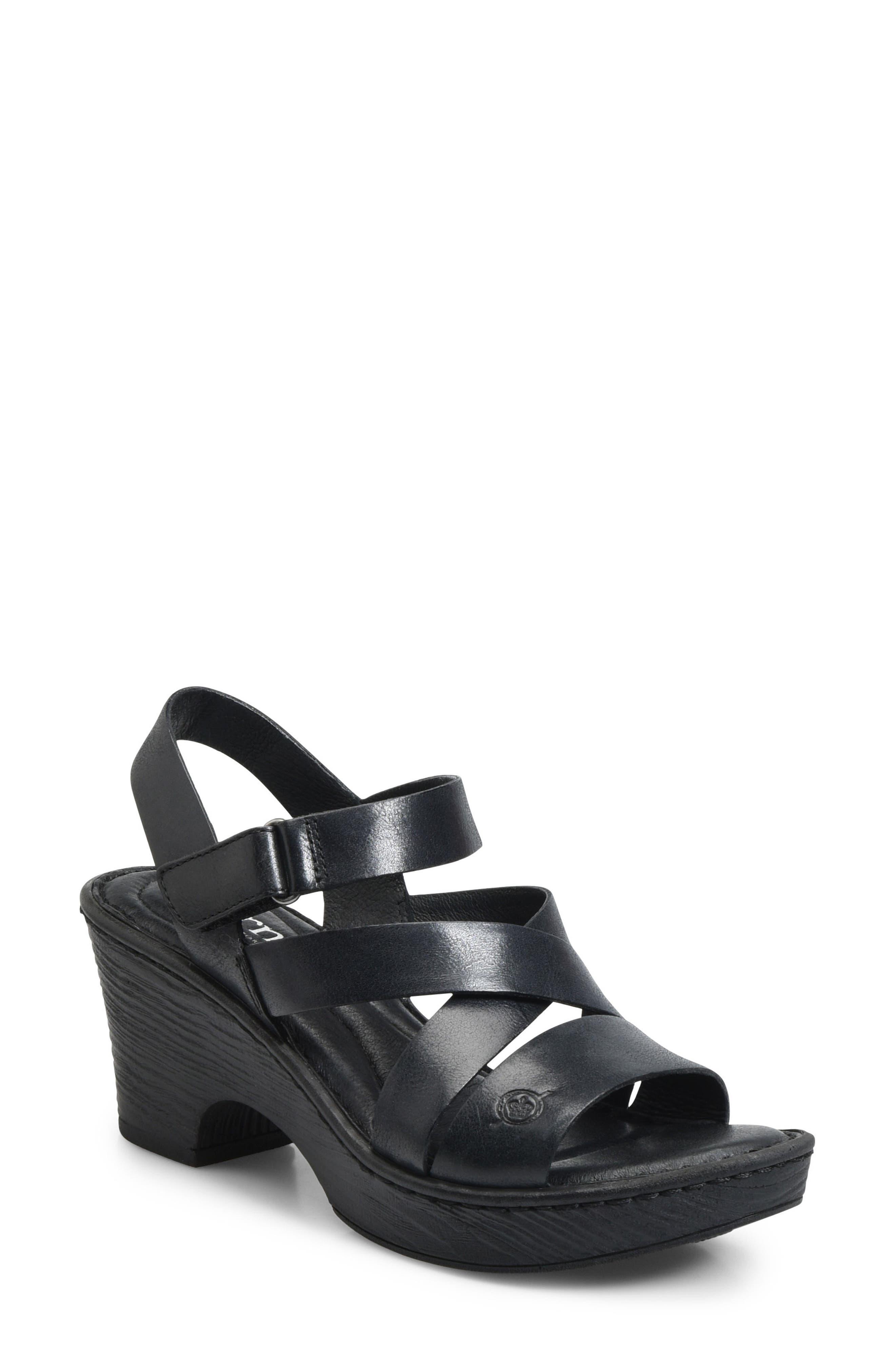 Cubera Platform Sandal,                             Main thumbnail 1, color,                             001
