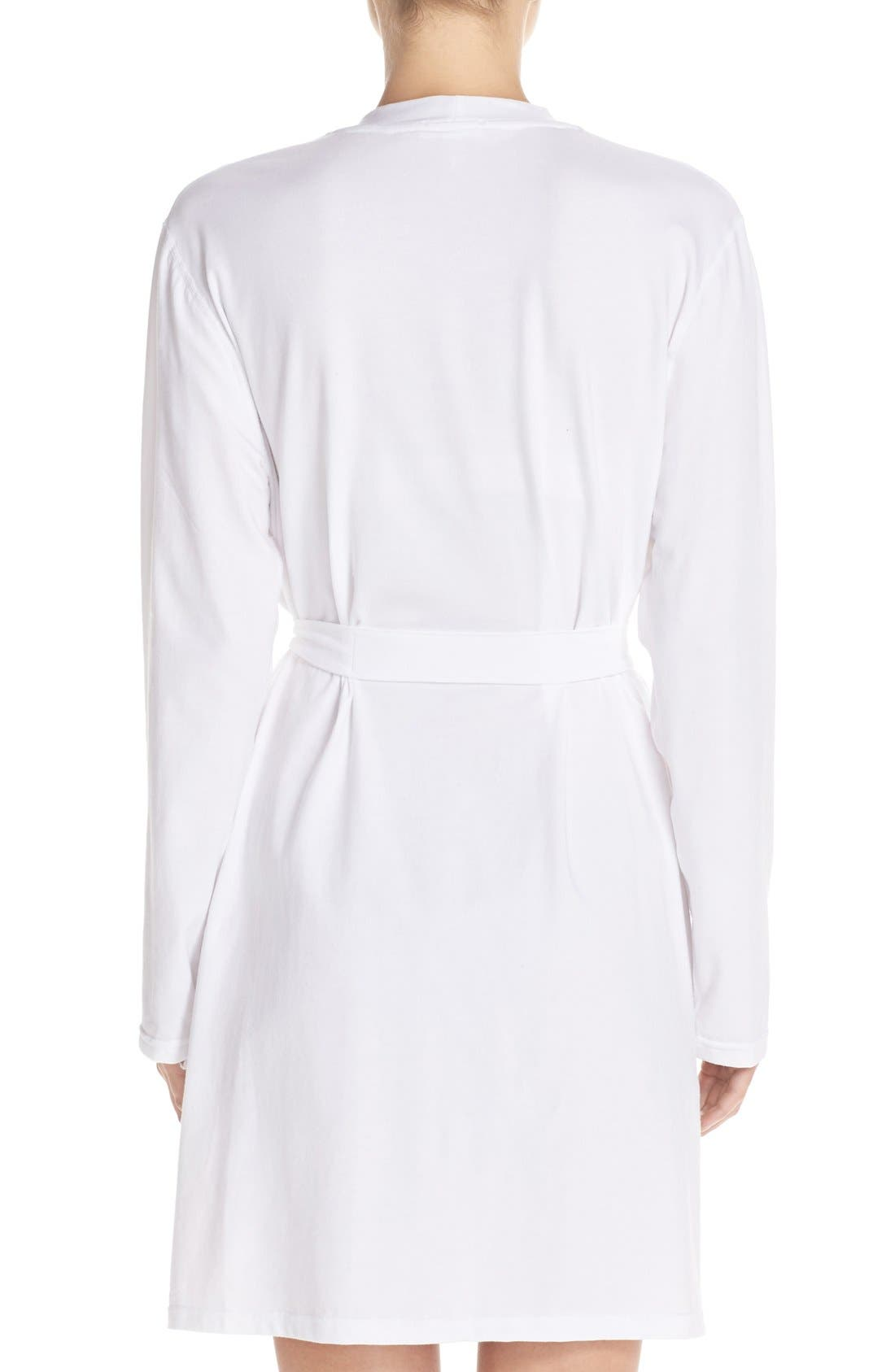 Stretch Cotton Robe,                             Alternate thumbnail 4, color,