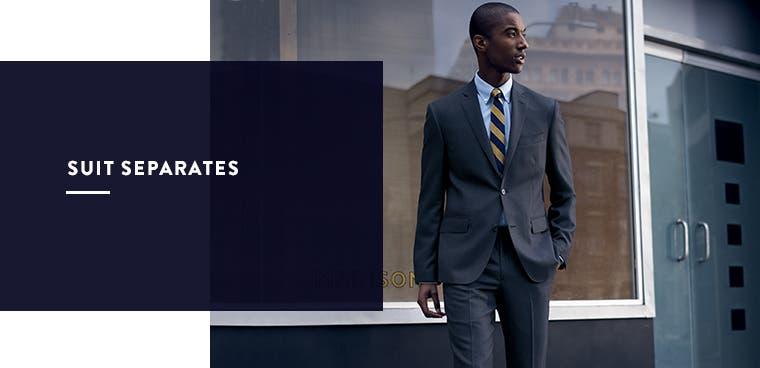 Men's suit separates.