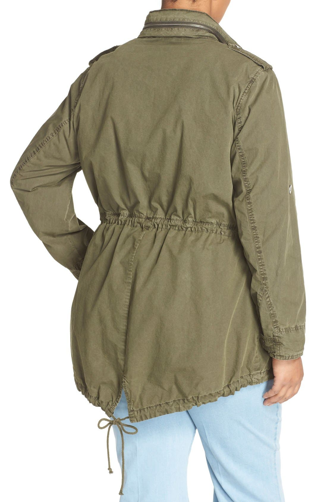 Parachute Hooded Cotton Utility Jacket,                             Alternate thumbnail 6, color,