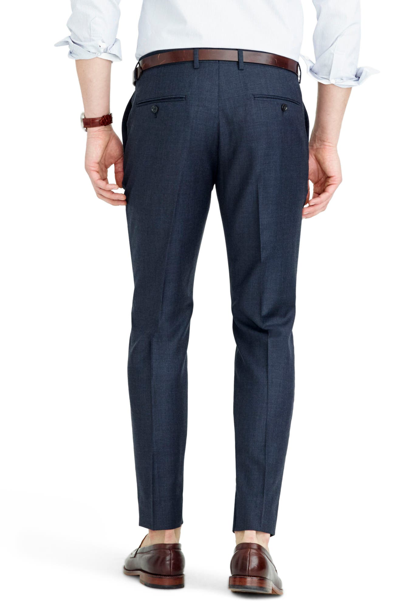 Ludlow Flat Front Solid Wool Trousers,                             Alternate thumbnail 23, color,