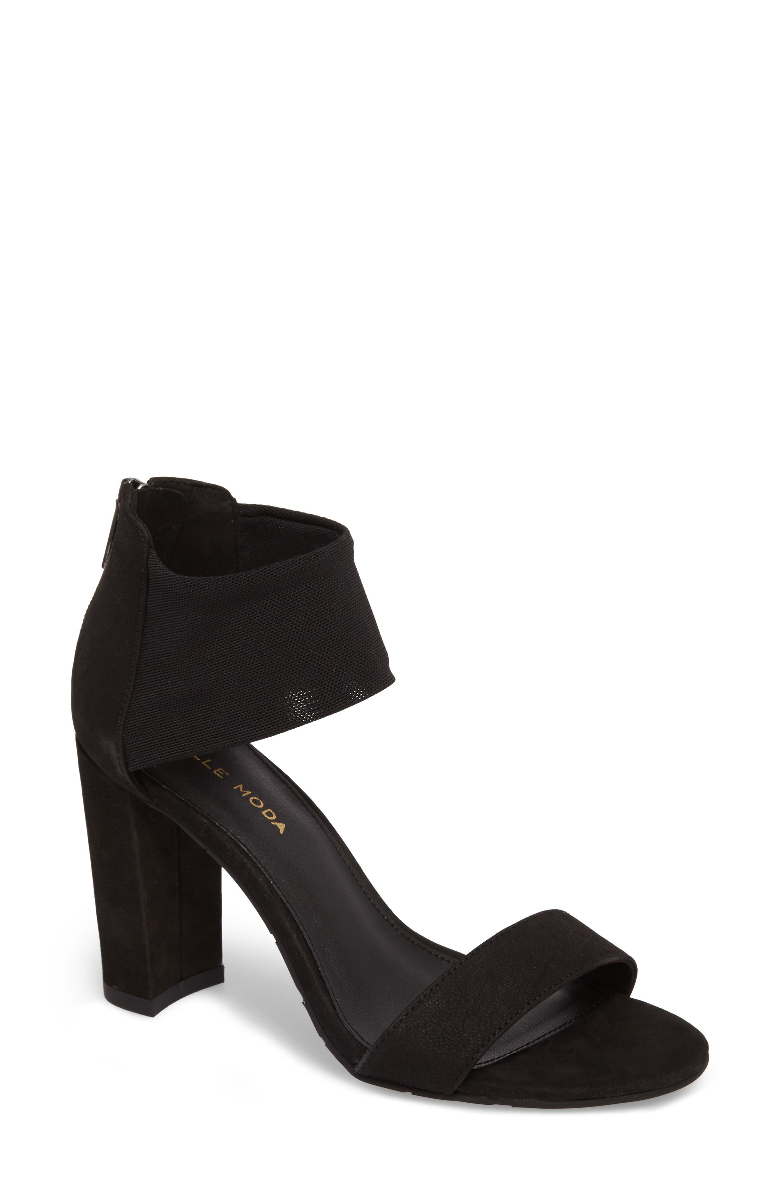 Fawn Sandal,                         Main,                         color, BLACK NUBUCK LEATHER