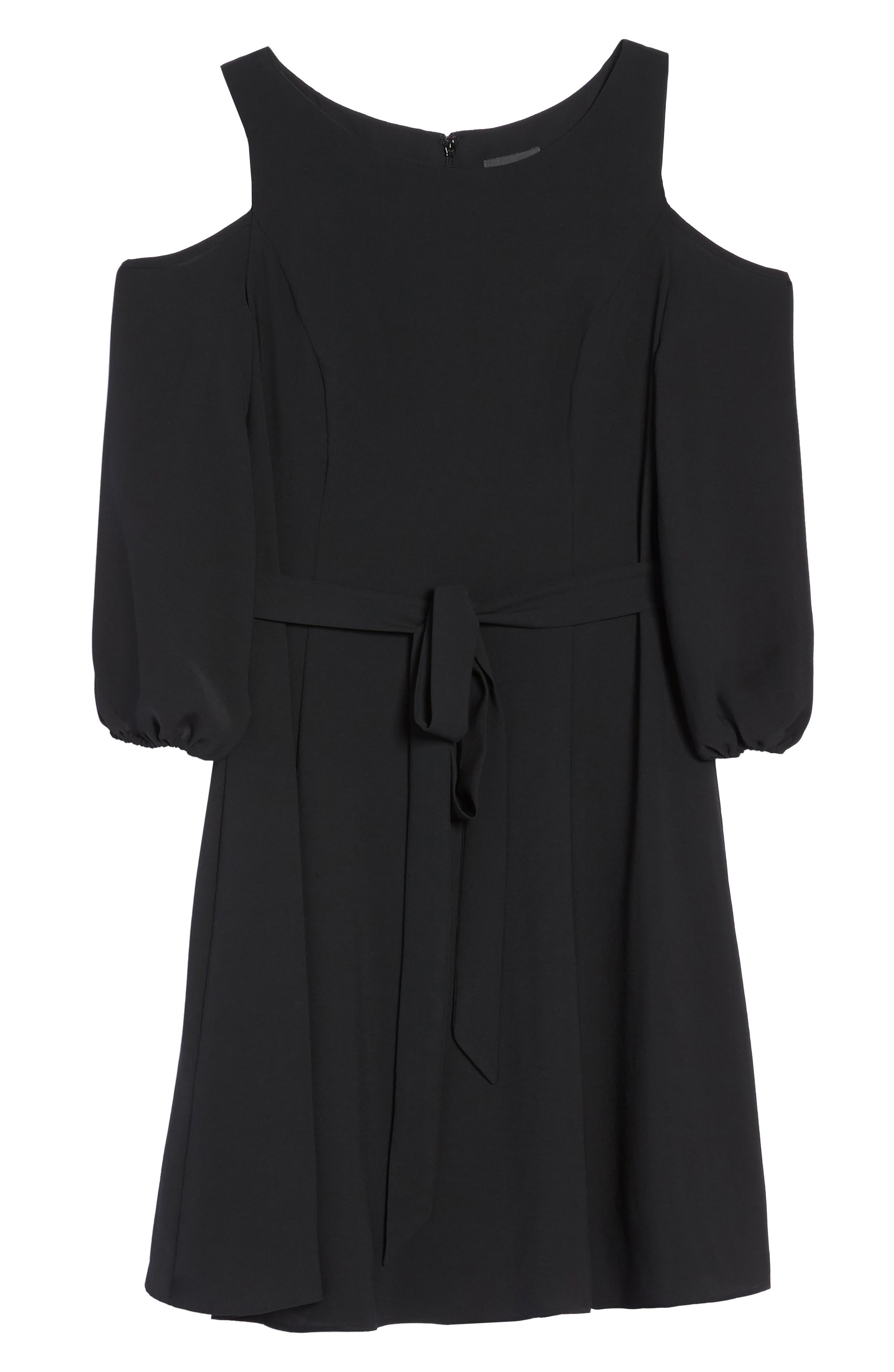 Cold Shoulder Dress,                             Alternate thumbnail 6, color,                             002