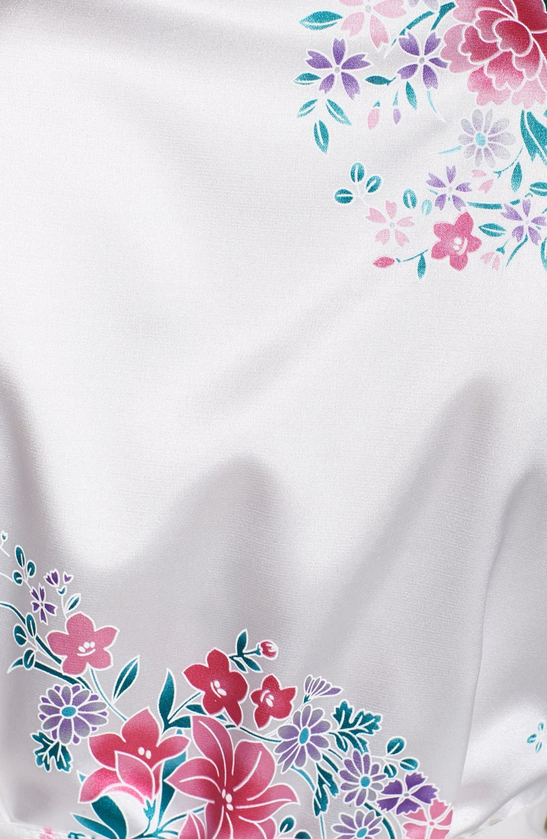 Monogram Floral Satin Robe,                             Alternate thumbnail 150, color,