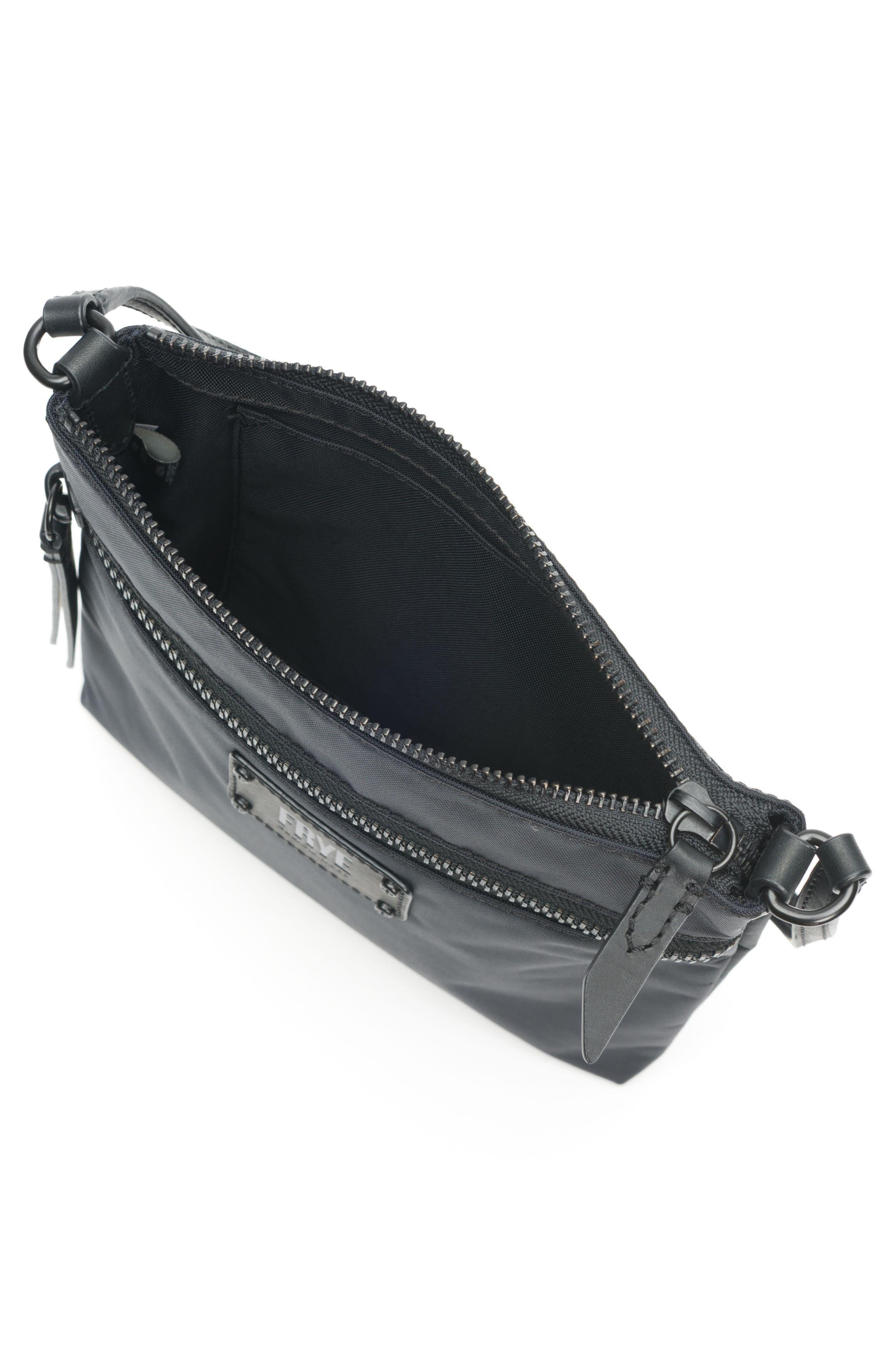 Ivy Nylon Crossbody Bag,                             Alternate thumbnail 4, color,                             MATTE BLACK