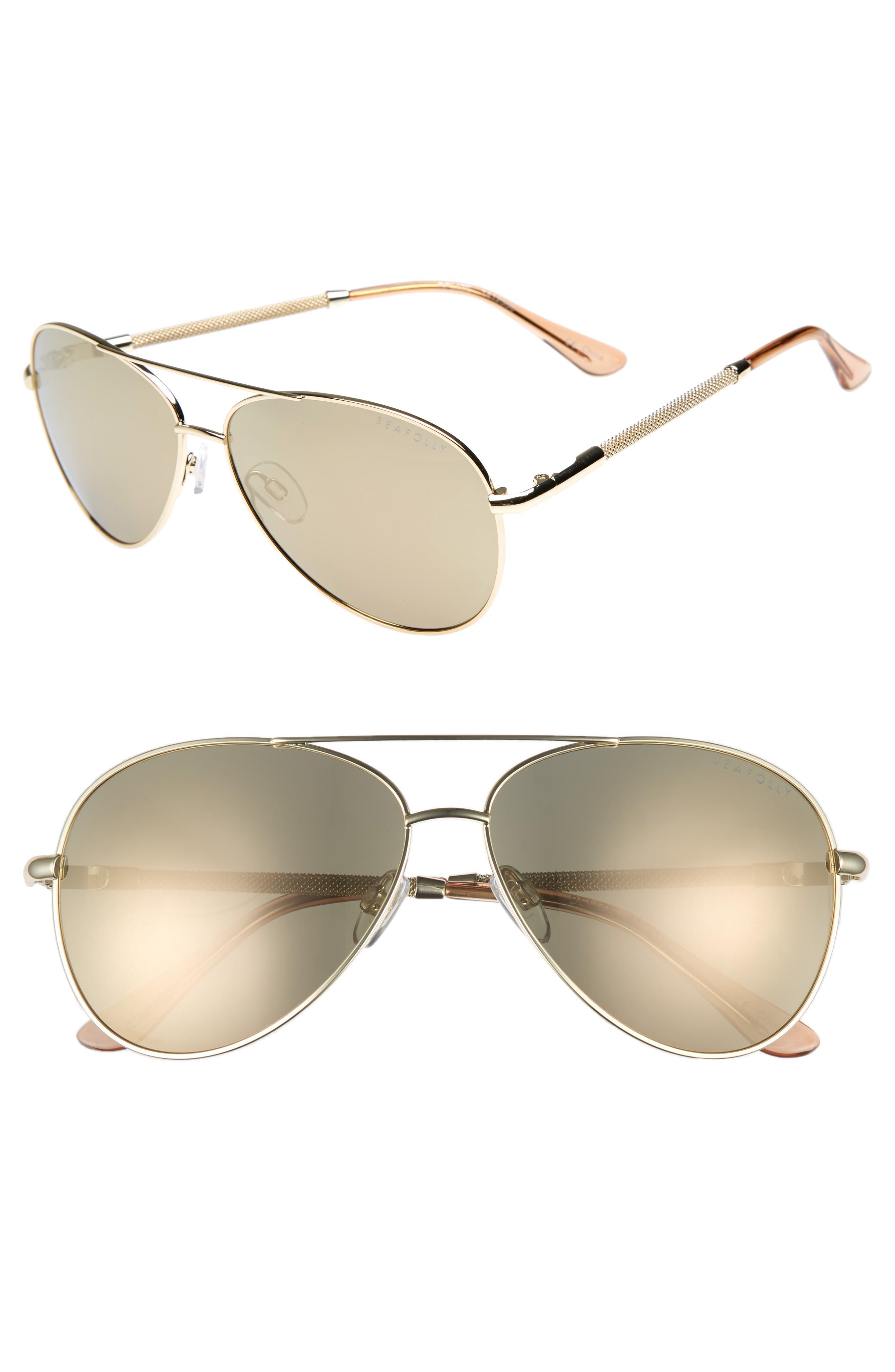Belize 59mm Aviator Sunglasses,                             Main thumbnail 1, color,