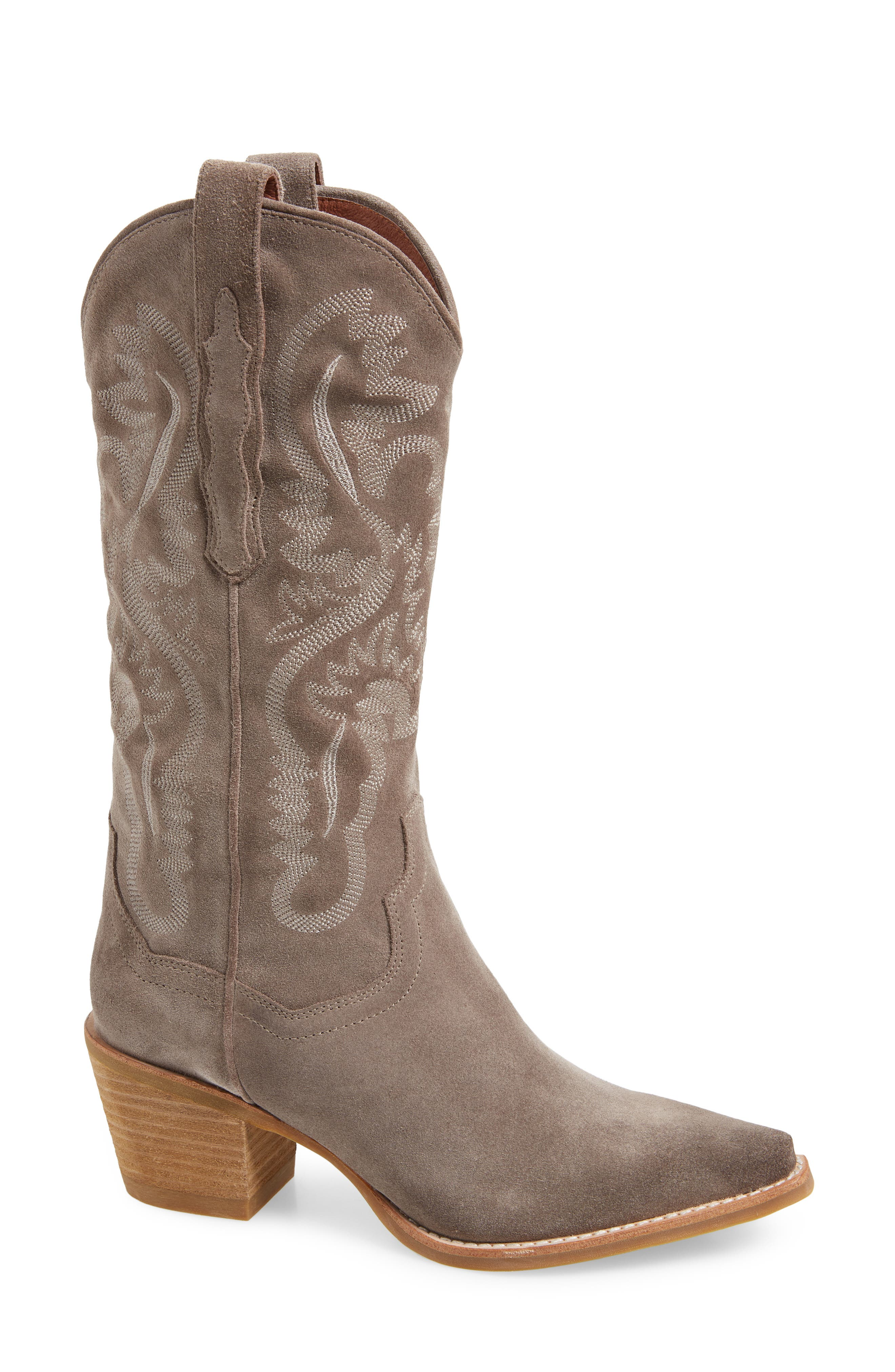 Dagget Western Boot,                         Main,                         color, TAUPE SUEDE