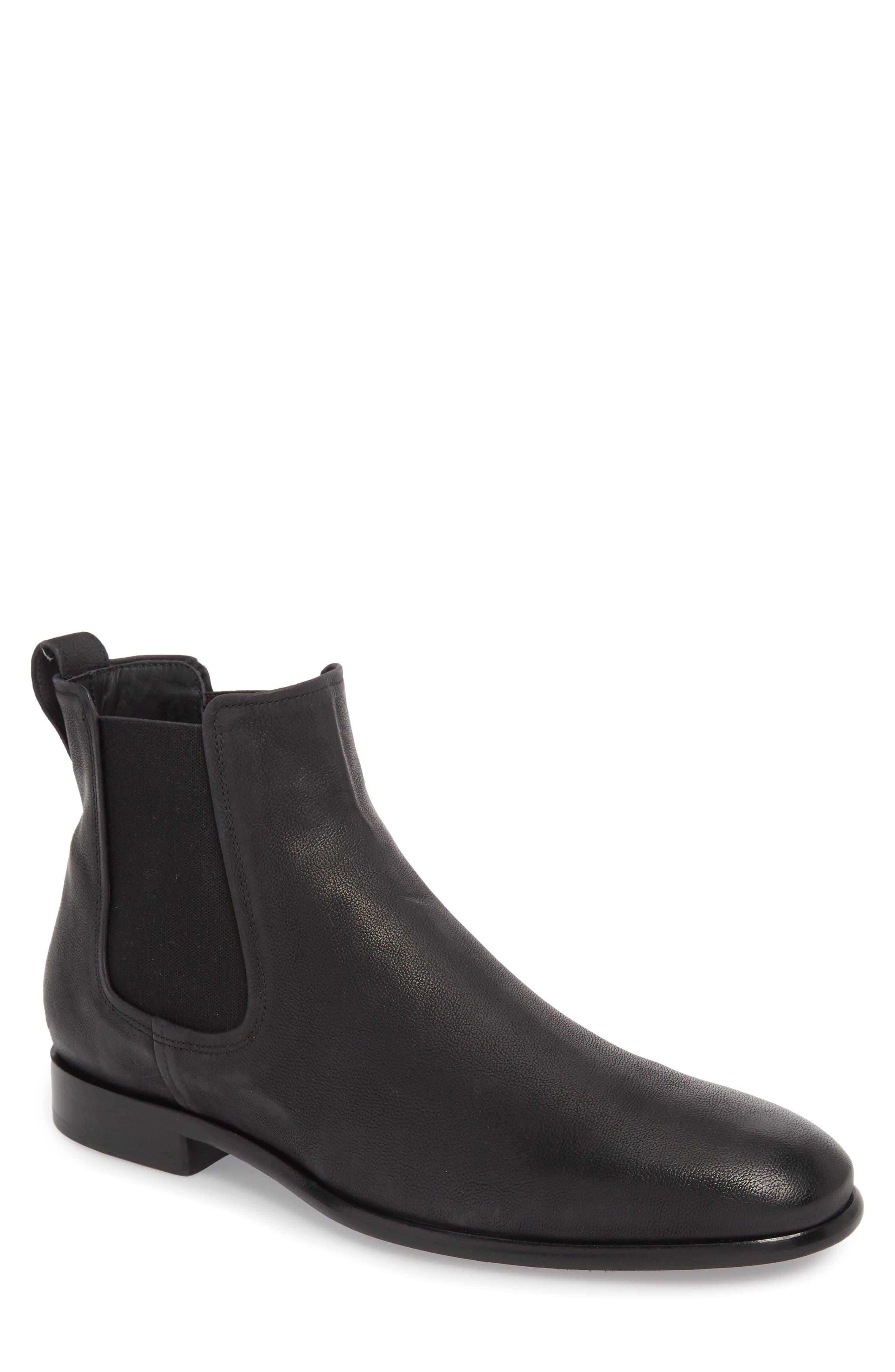 Aldous Chelsea Boot,                         Main,                         color, BLACK LEATHER