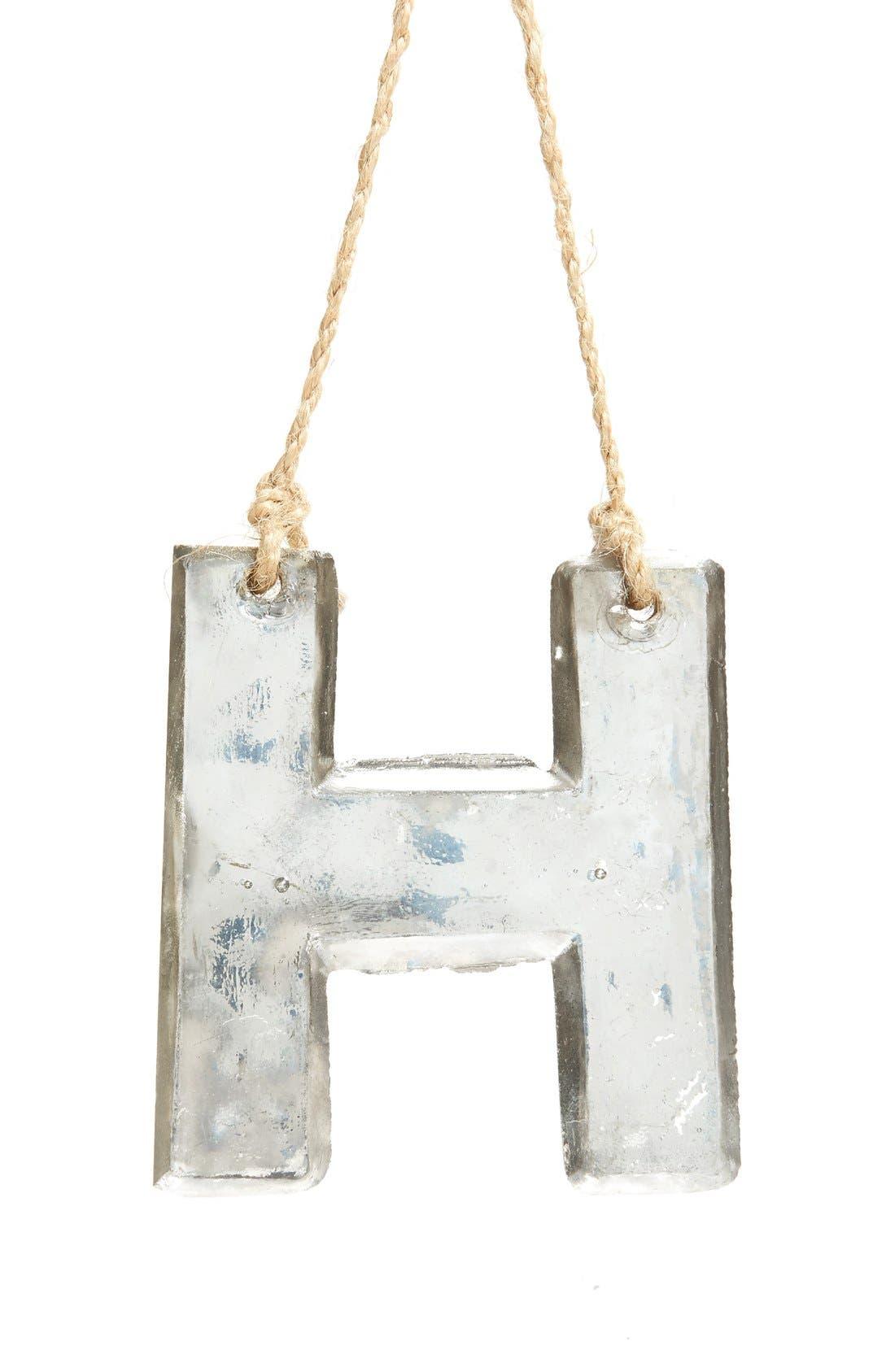 Handblown Glass Alphabet Ornament,                             Main thumbnail 23, color,