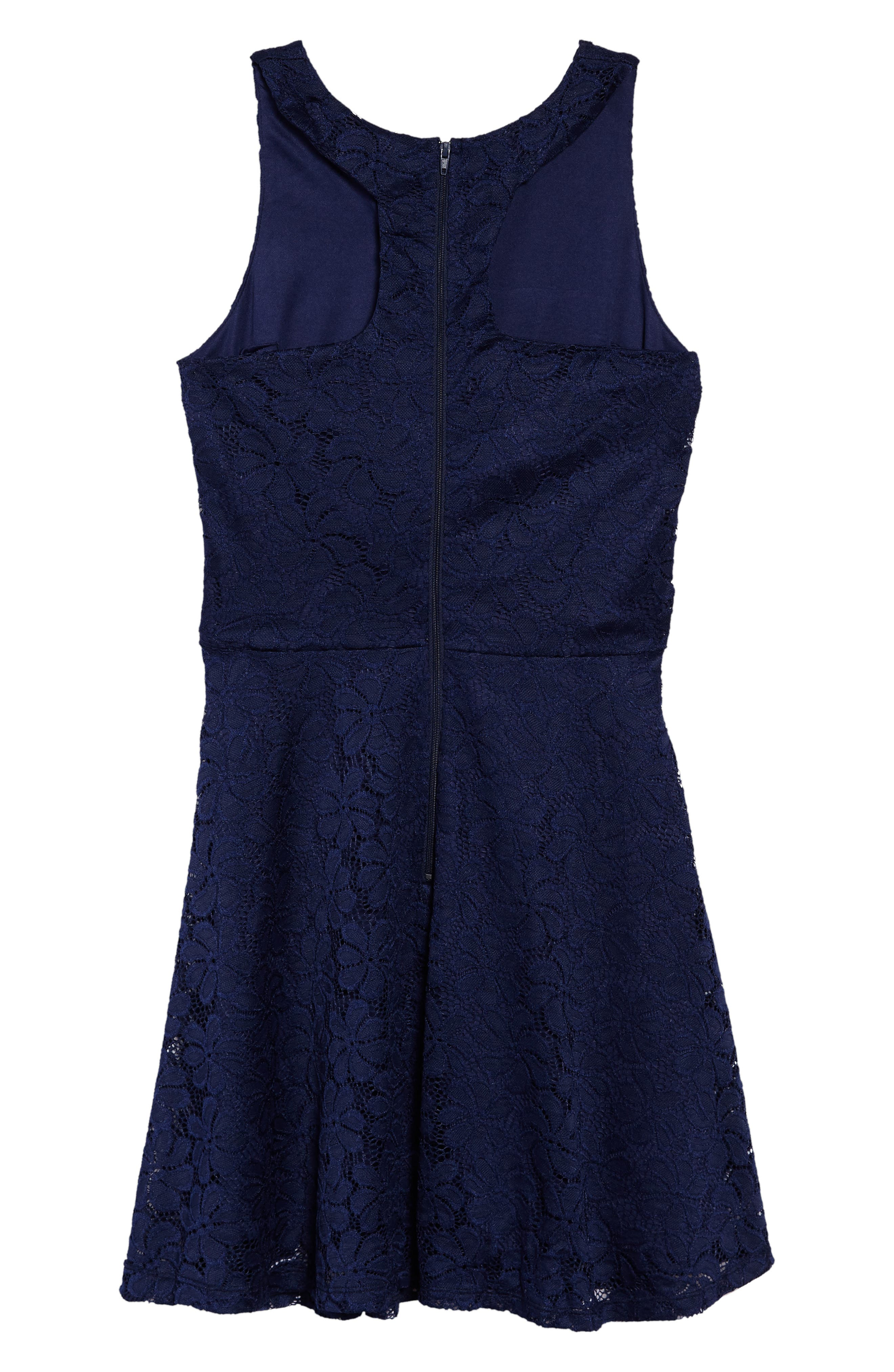 Betty Racerback Lace Dress,                             Alternate thumbnail 2, color,                             410