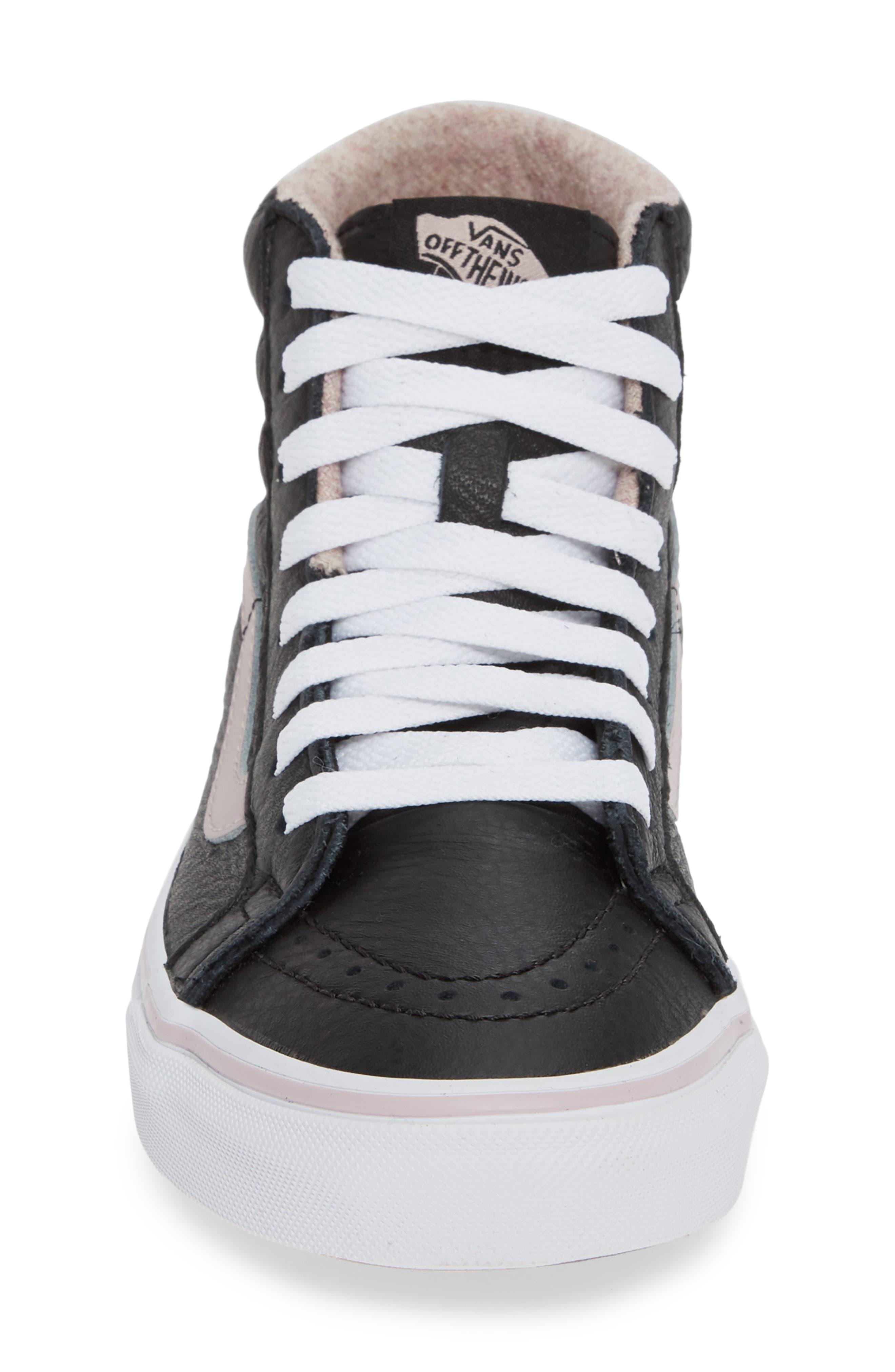 VANS,                             Sk8-Hi Reissue Sneaker,                             Alternate thumbnail 4, color,                             001