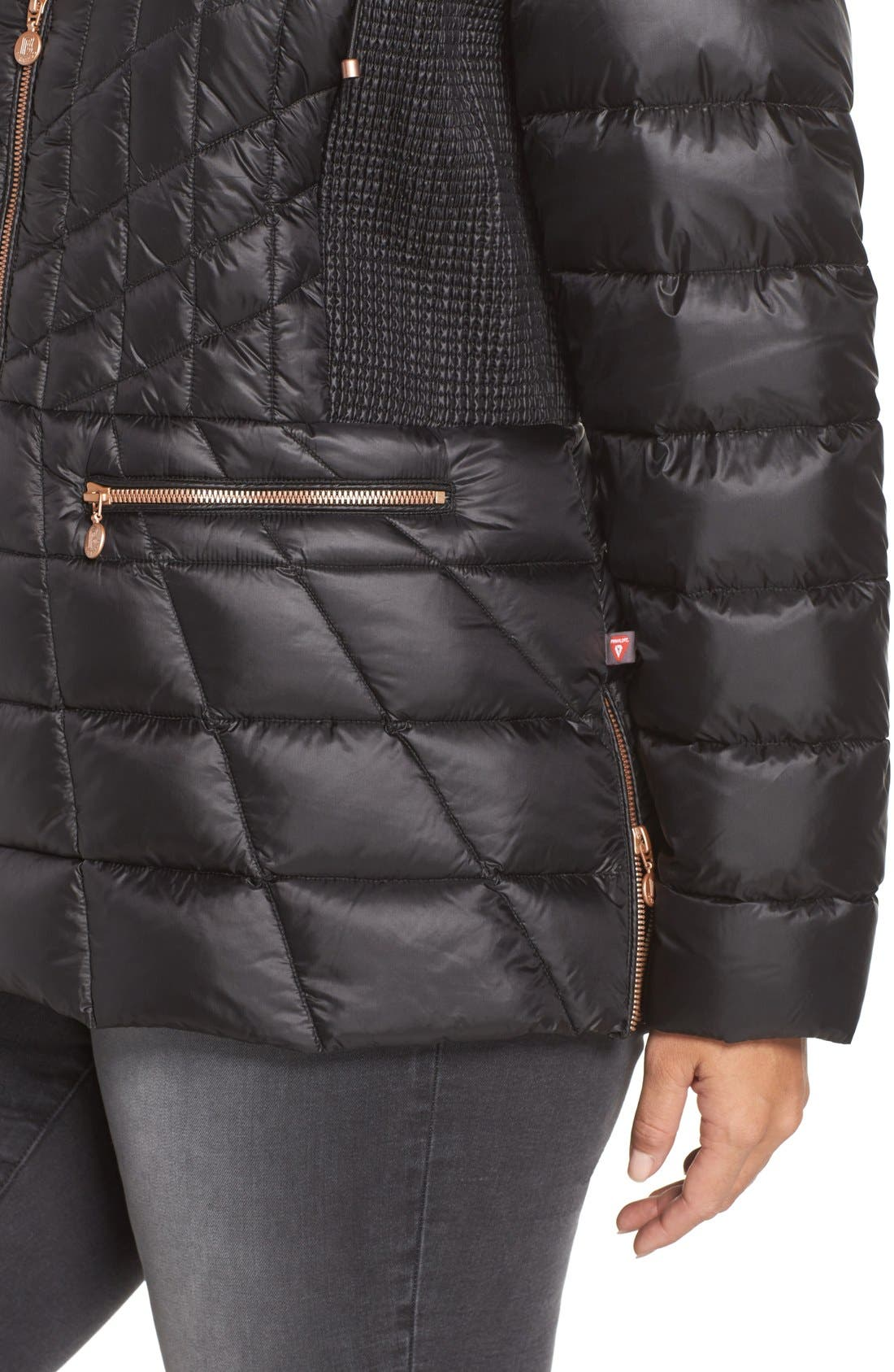 Packable Jacket with Down & PrimaLoft<sup>®</sup> Fill,                             Alternate thumbnail 4, color,                             005