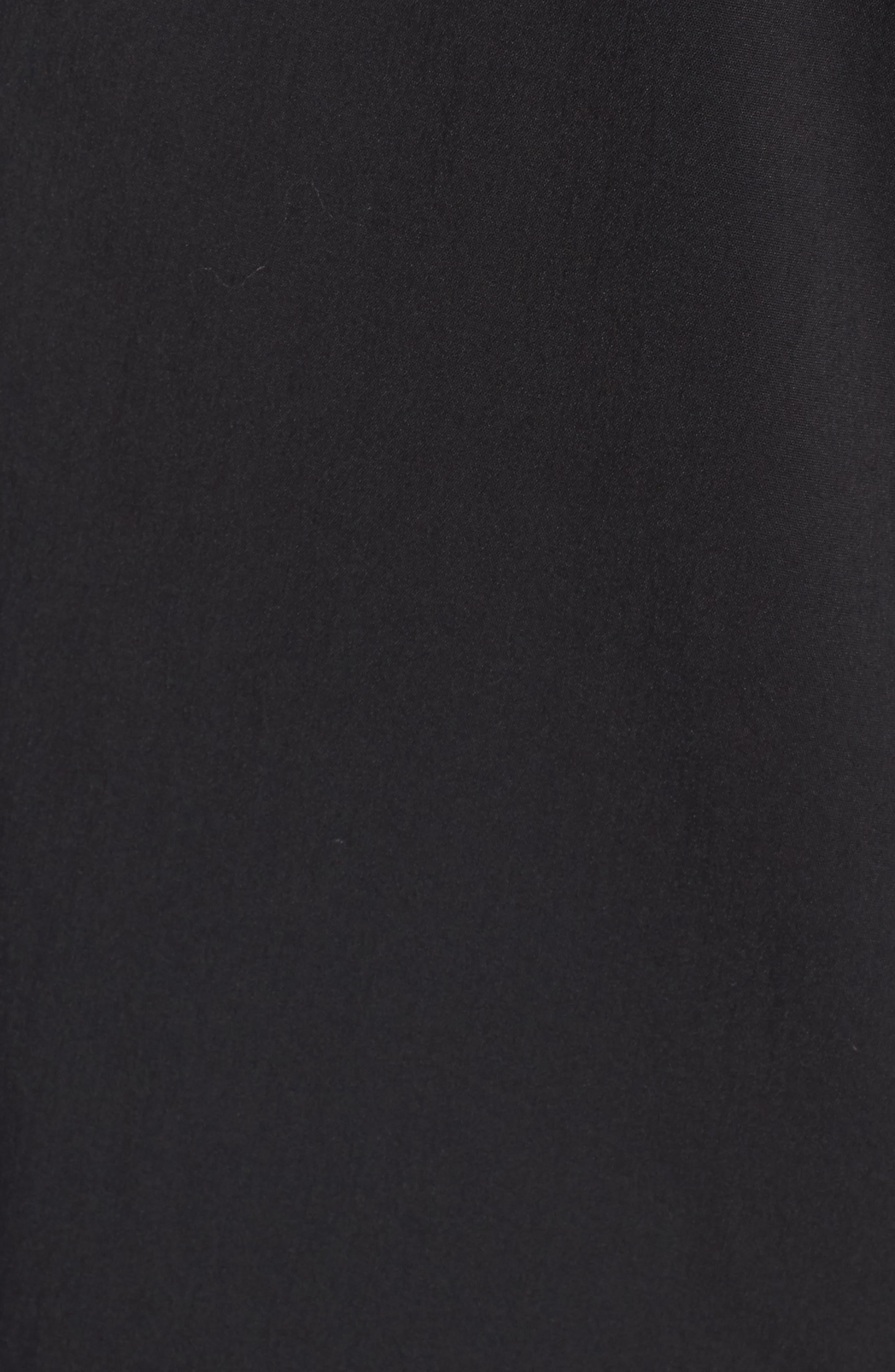 Cinch Sleeve Off the Shoulder Dress,                             Alternate thumbnail 5, color,                             001