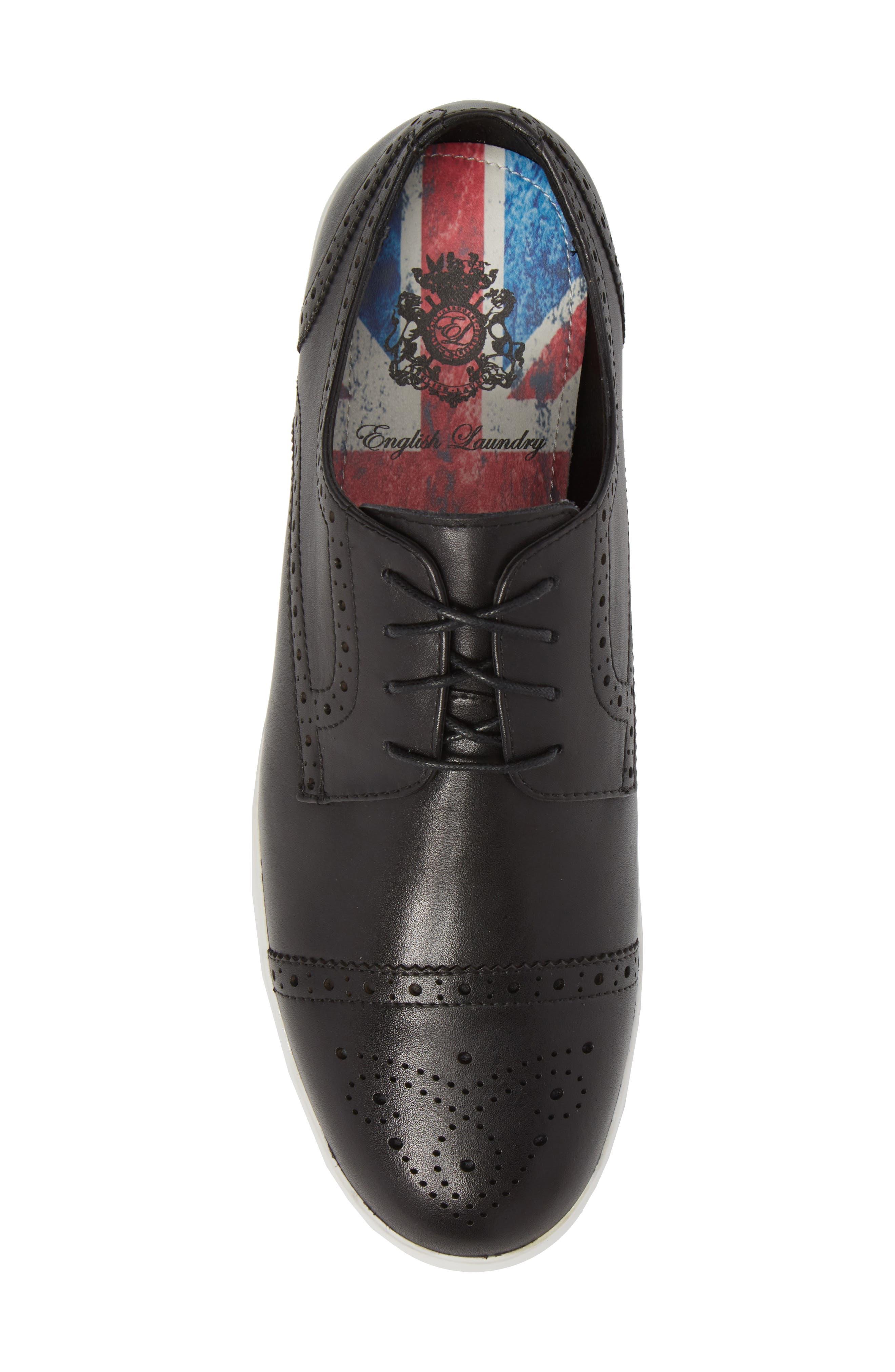 Dunnet Cap Toe Sneaker,                             Alternate thumbnail 5, color,                             001