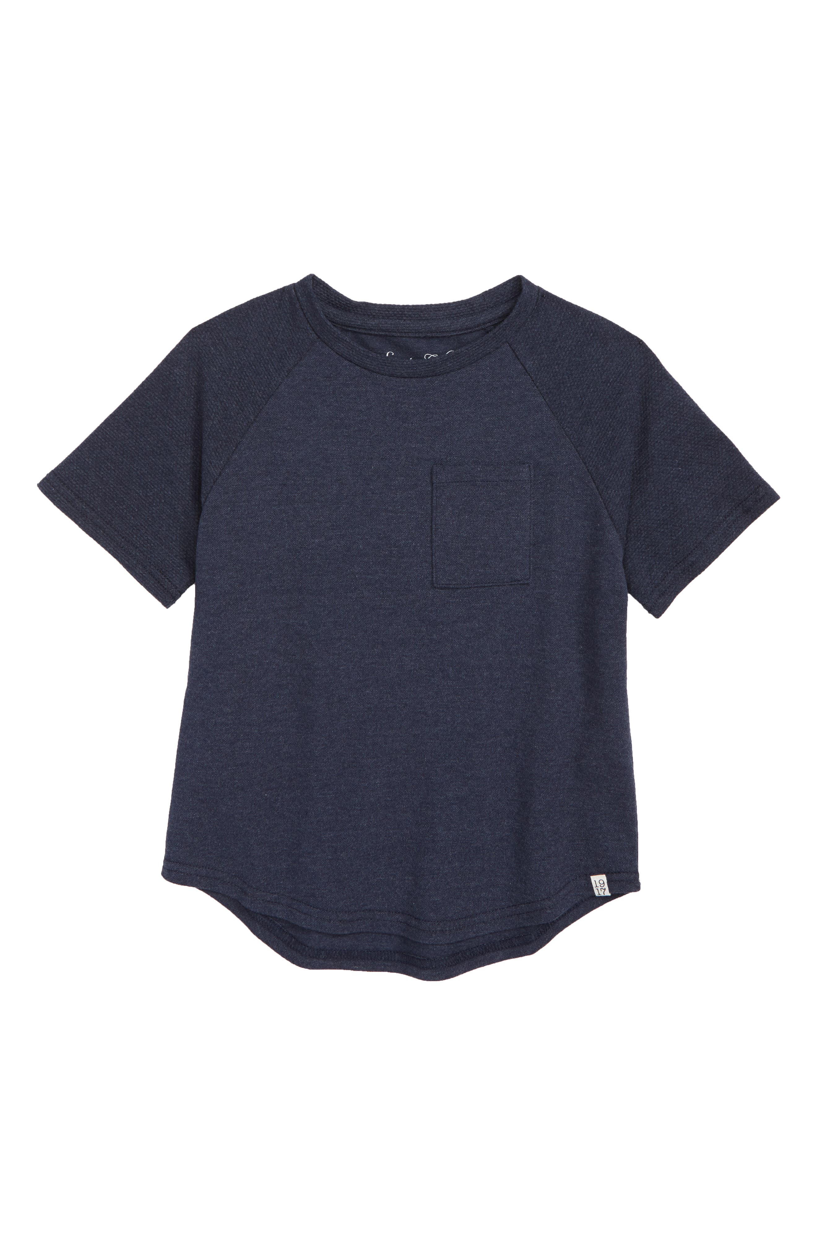 Suburb T-Shirt,                         Main,                         color, HEATHER NAVY PIQUE