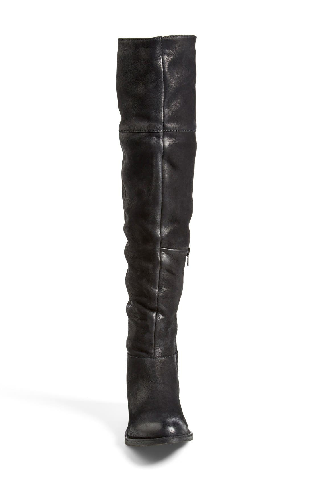 'Heisnbrg' Leather Over the Knee Boot,                             Alternate thumbnail 2, color,                             001