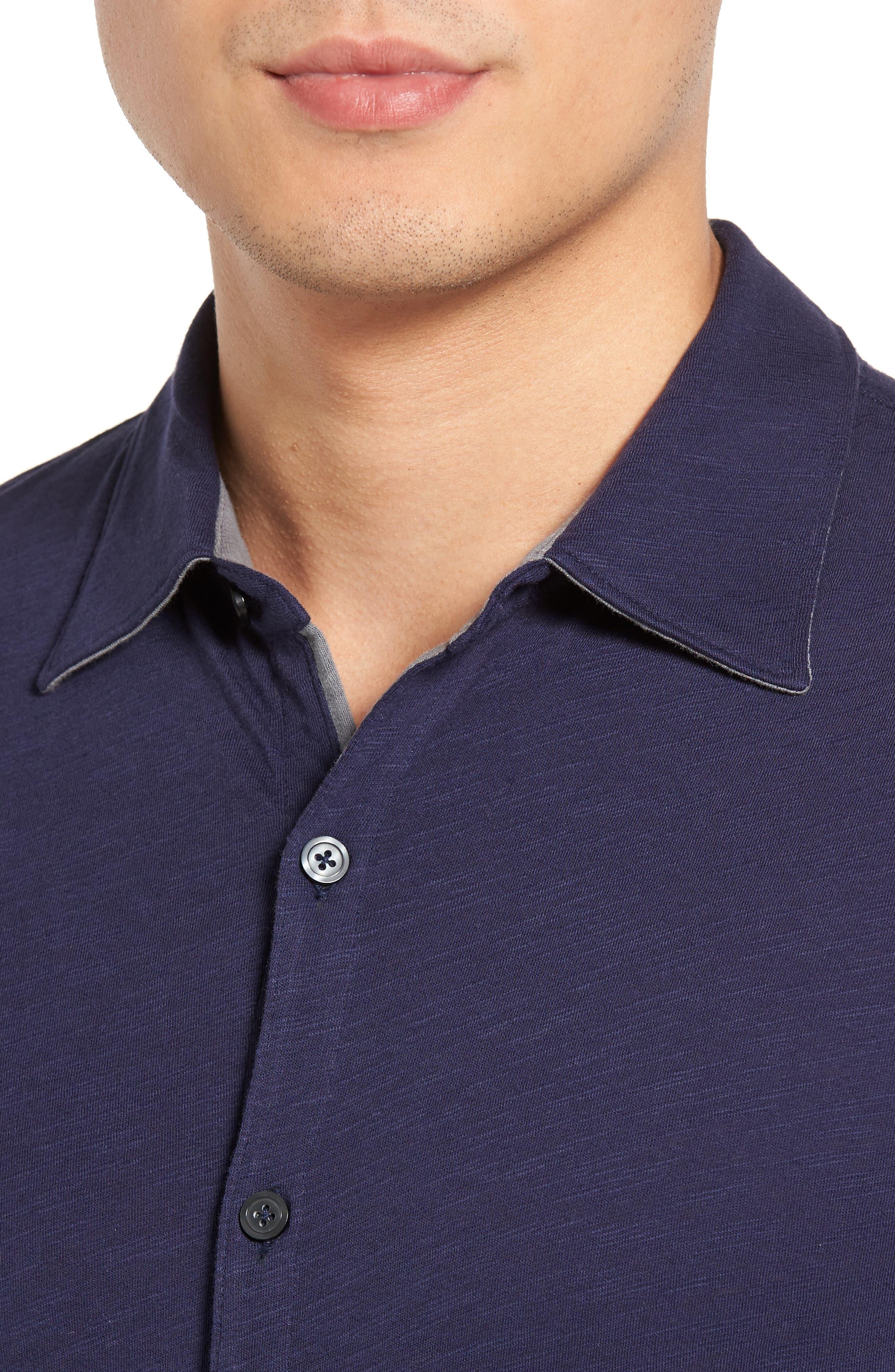 Camara Trim Fit Knit Sport Shirt,                             Alternate thumbnail 11, color,