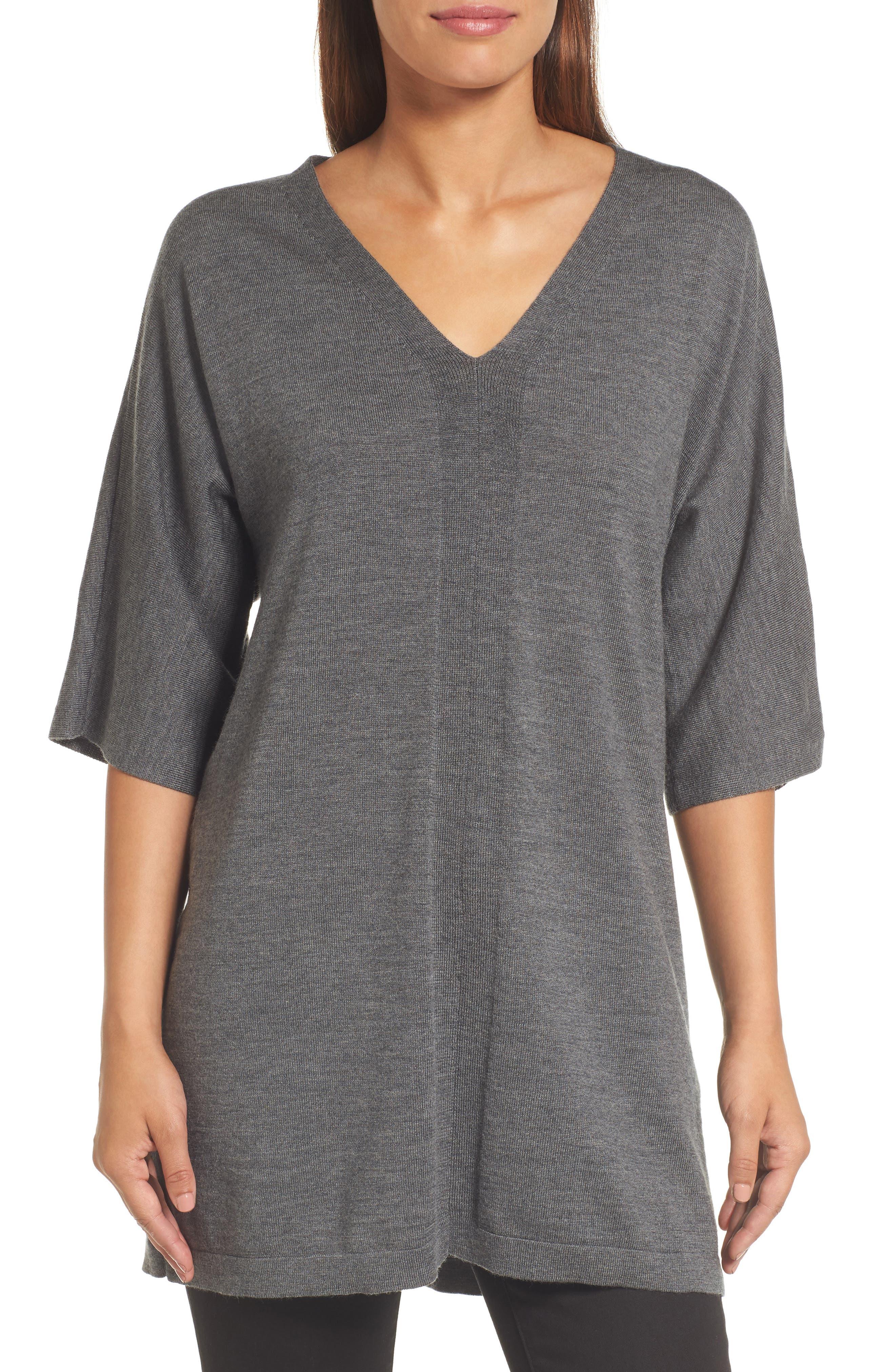 Merino Wool Tunic Sweater,                             Main thumbnail 3, color,