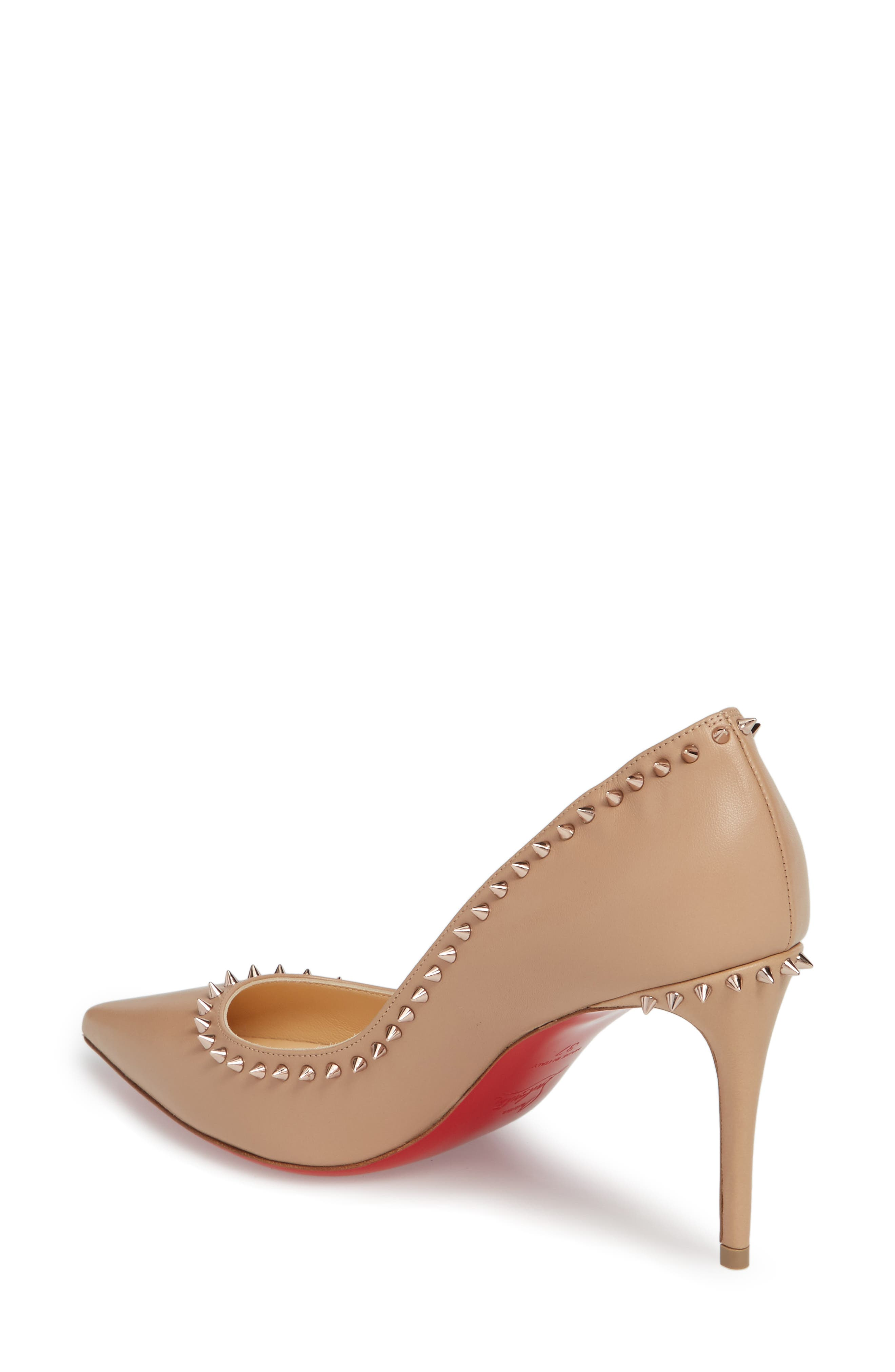 Anjalina Spiked Pointy Toe Pump,                             Alternate thumbnail 4, color,