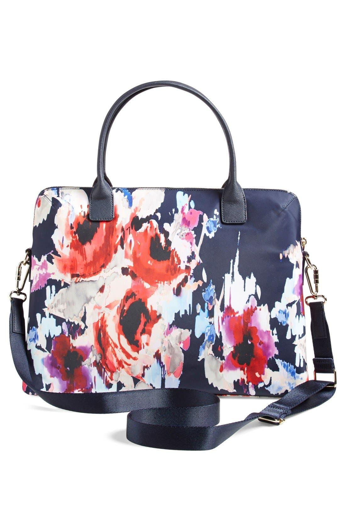 'hazy floral daveney' laptop bag,                             Alternate thumbnail 3, color,                             600