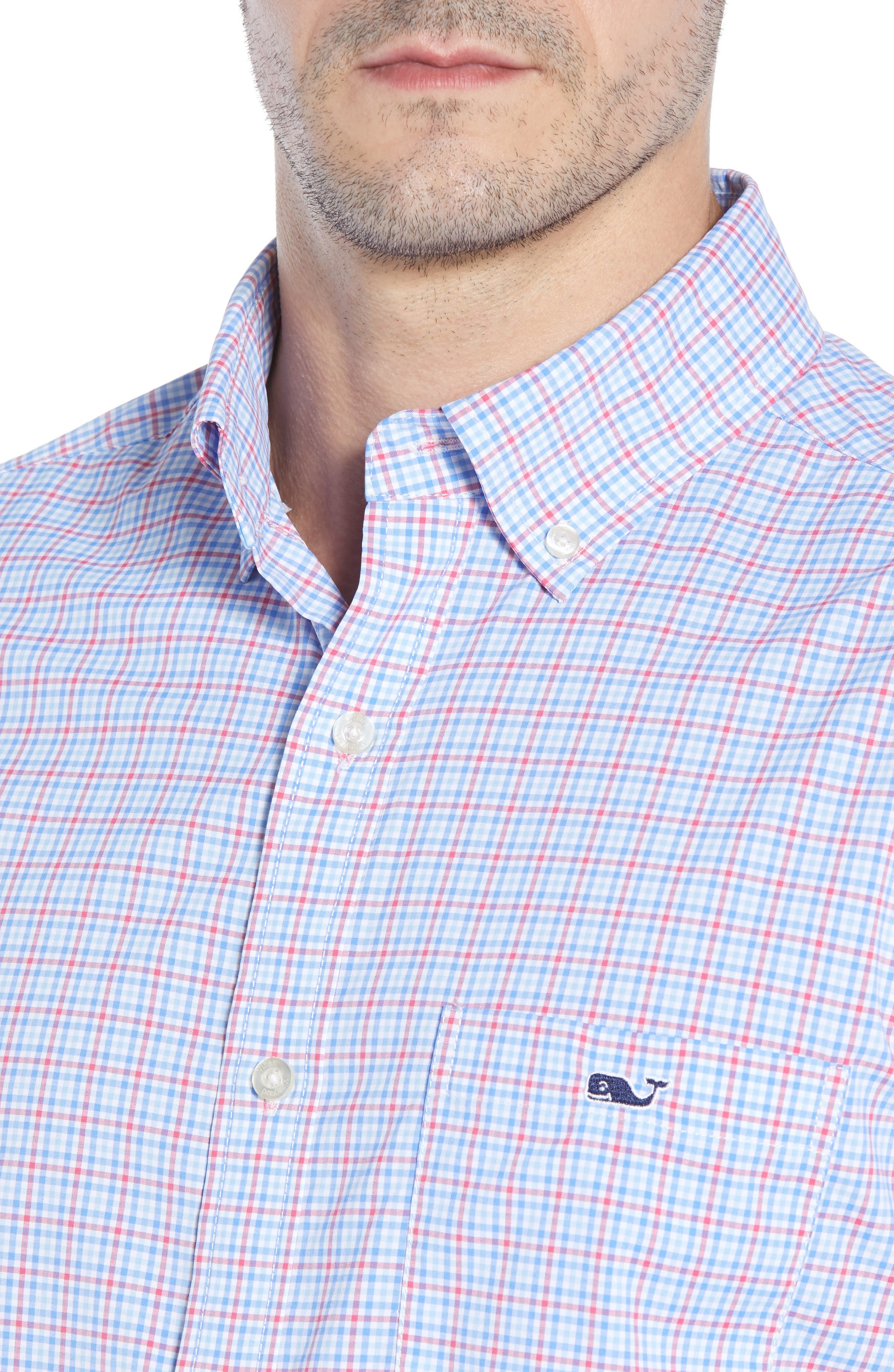 Boldwater Regular Fit Plaid Sport Shirt,                             Alternate thumbnail 2, color,                             SAILORS RED