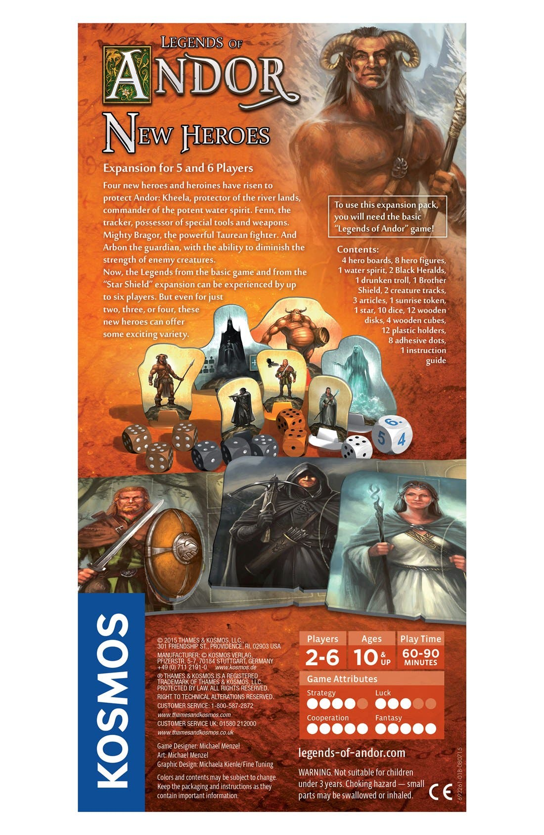 'Legends of Andor - New Heroes' Game Expansion Pack,                             Alternate thumbnail 2, color,                             BROWN