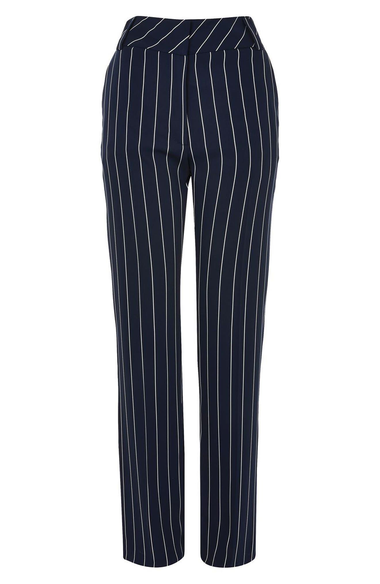 Stripe Wide Leg Trousers,                             Alternate thumbnail 2, color,                             410