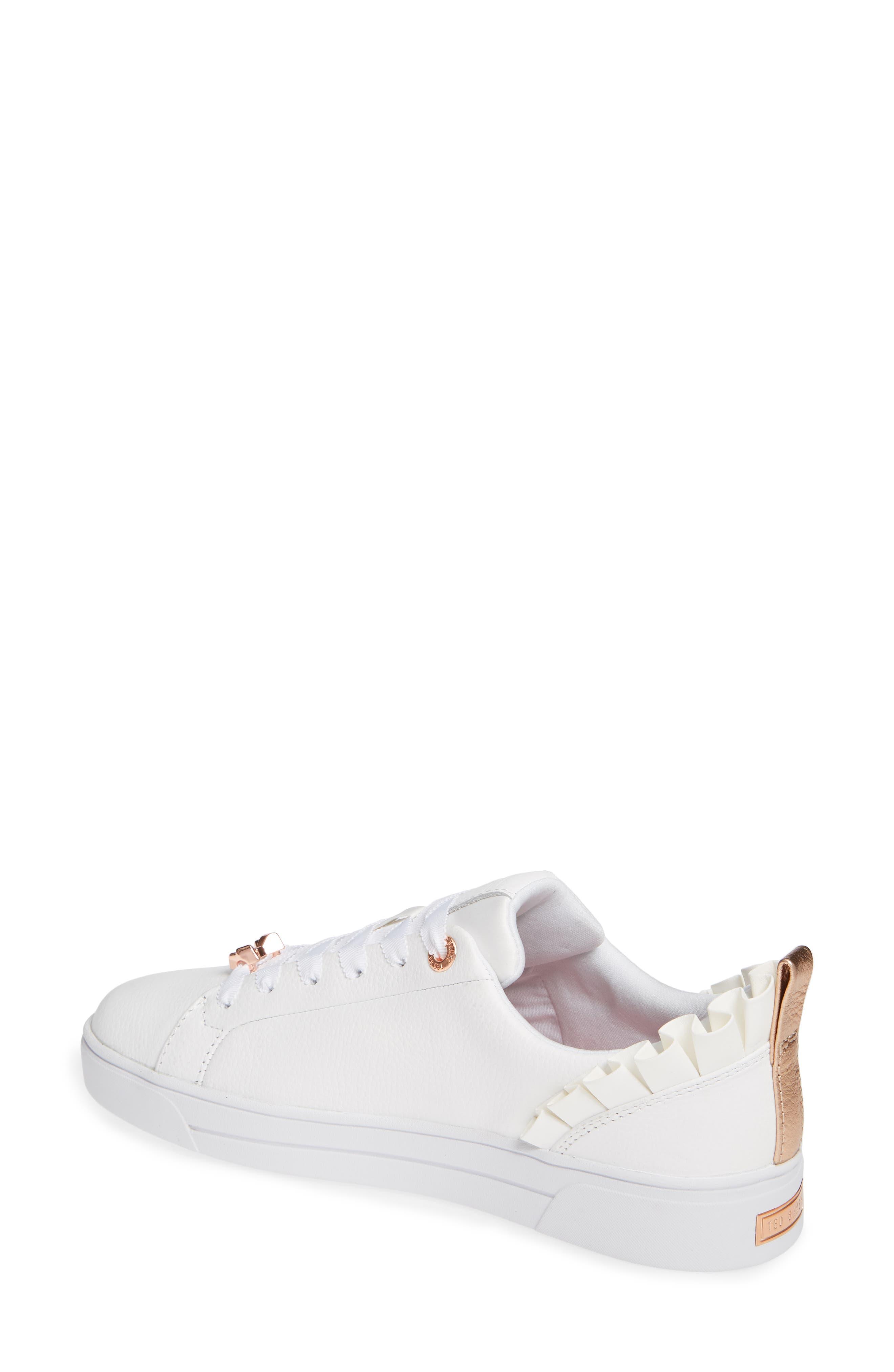 Astrina Sneaker,                             Alternate thumbnail 2, color,                             WHITE LEATHER