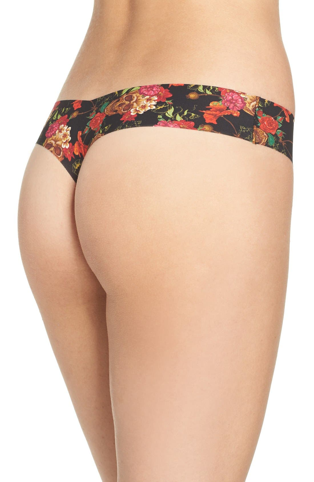 Print Microfiber Thong,                             Alternate thumbnail 131, color,