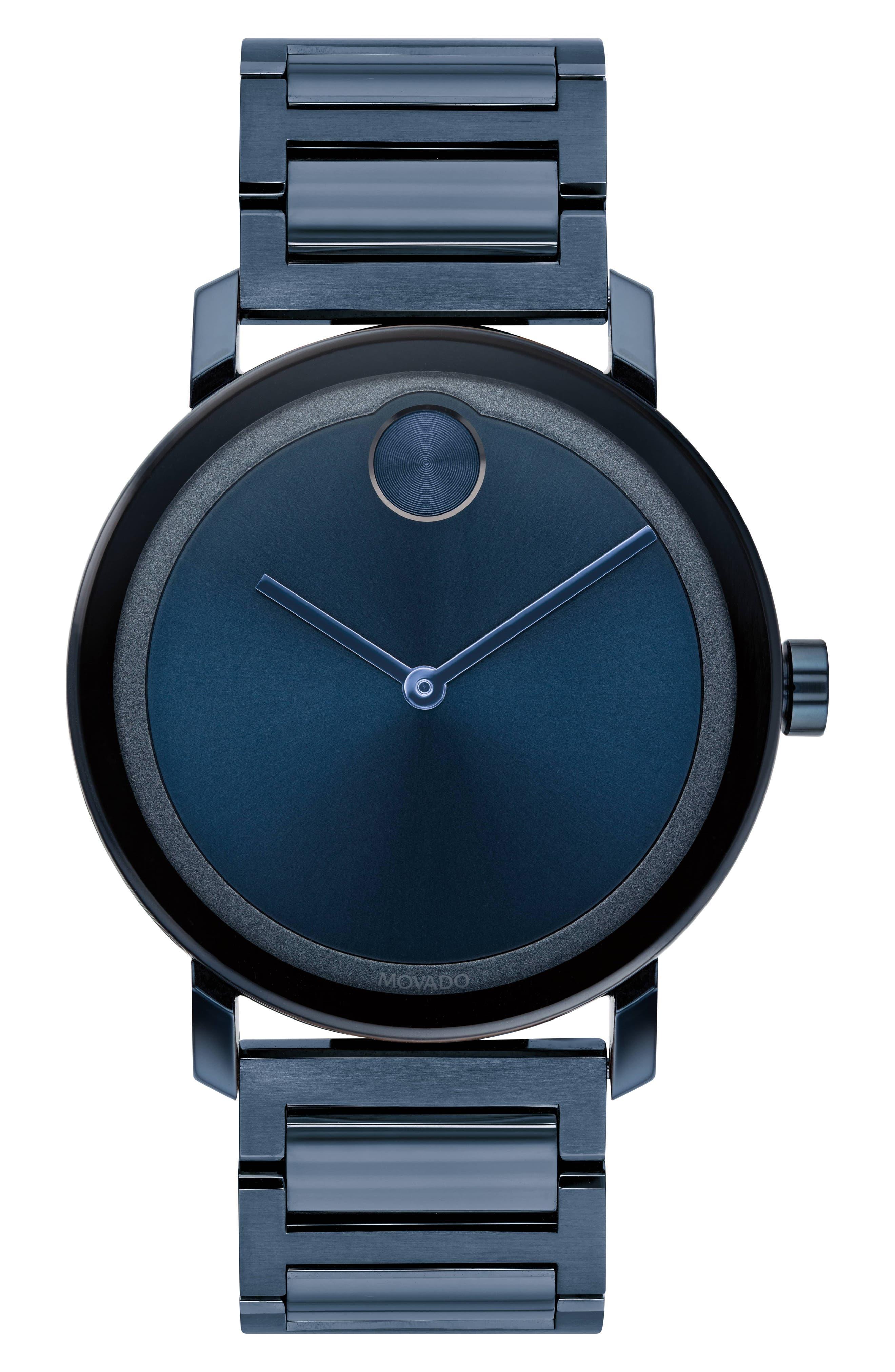 Bold Bracelet Watch, 40mm,                             Main thumbnail 1, color,                             BLUE