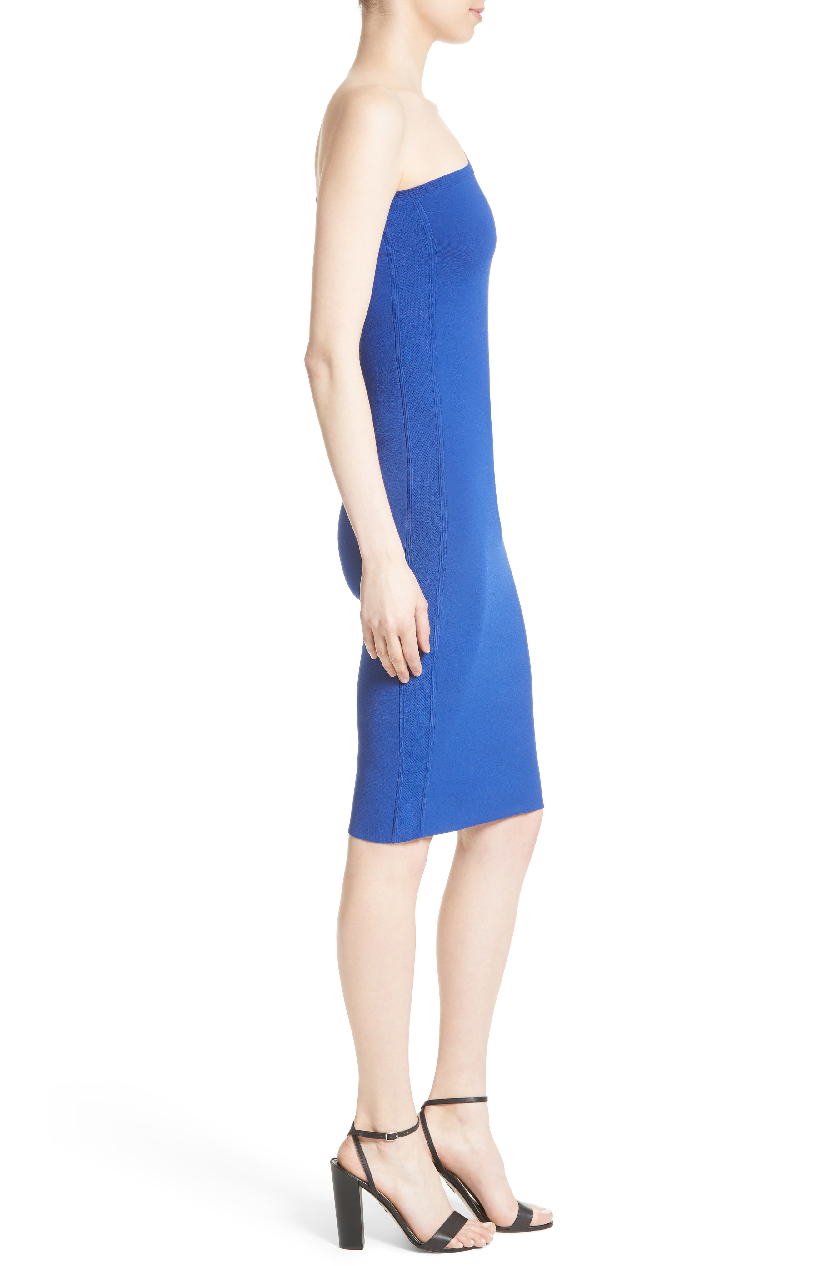One-Shoulder Knit Dress,                             Alternate thumbnail 6, color,