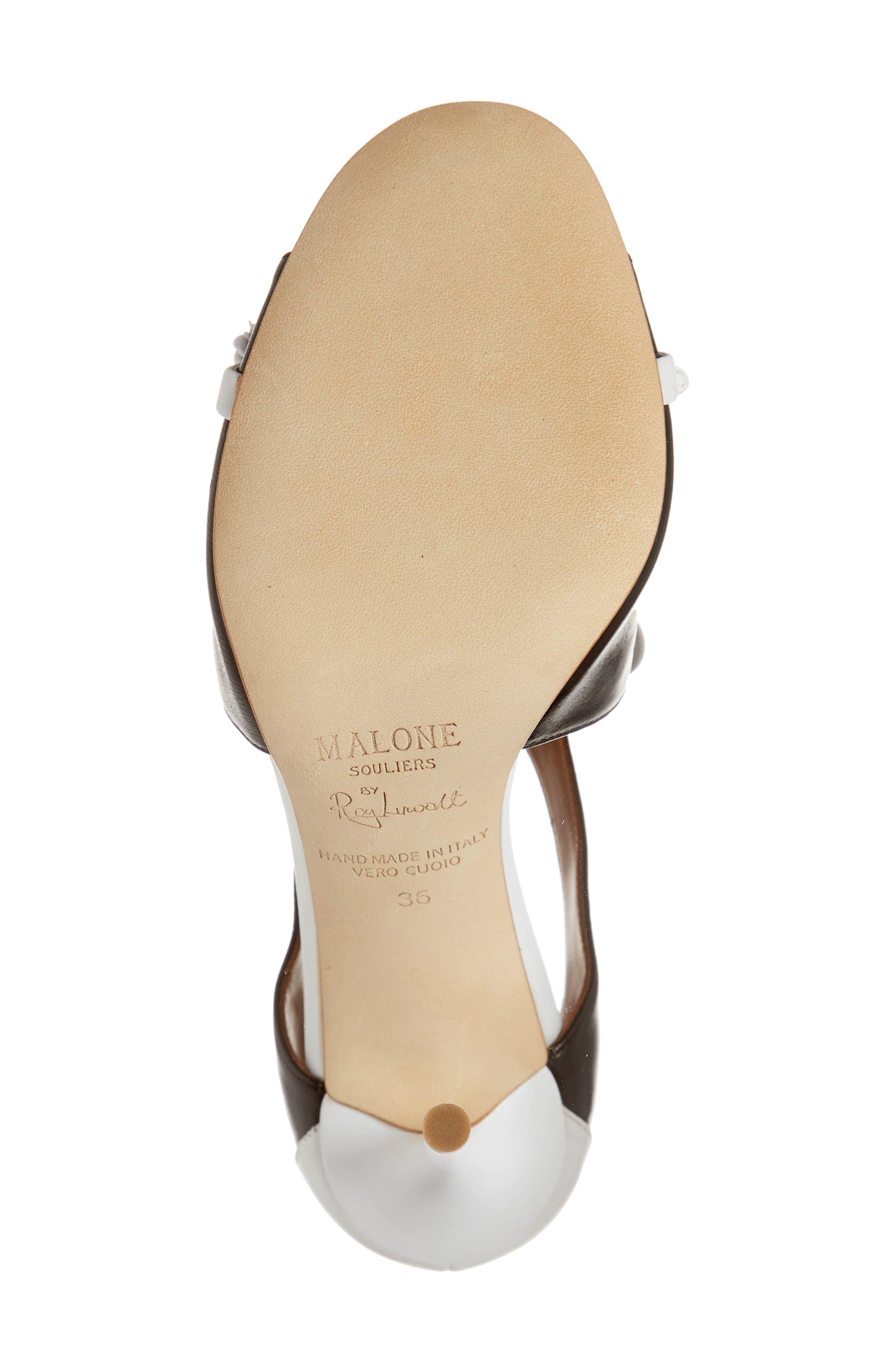 MALONE SOULIERS,                             Potomac Lace-Up Sandal,                             Alternate thumbnail 6, color,                             BLACK/ WHITE
