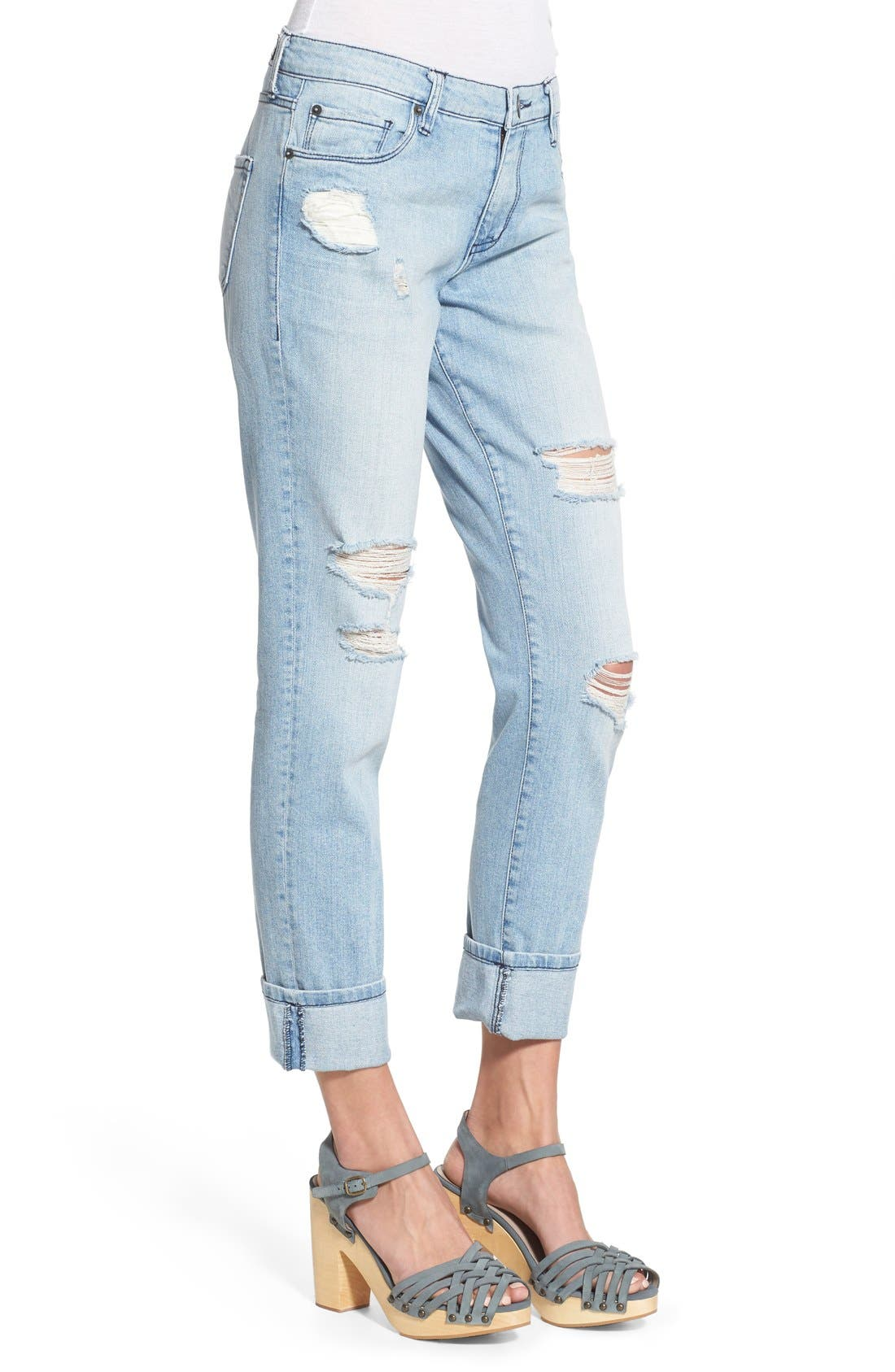 'Taylor' Distressed Jeans,                             Alternate thumbnail 3, color,                             404