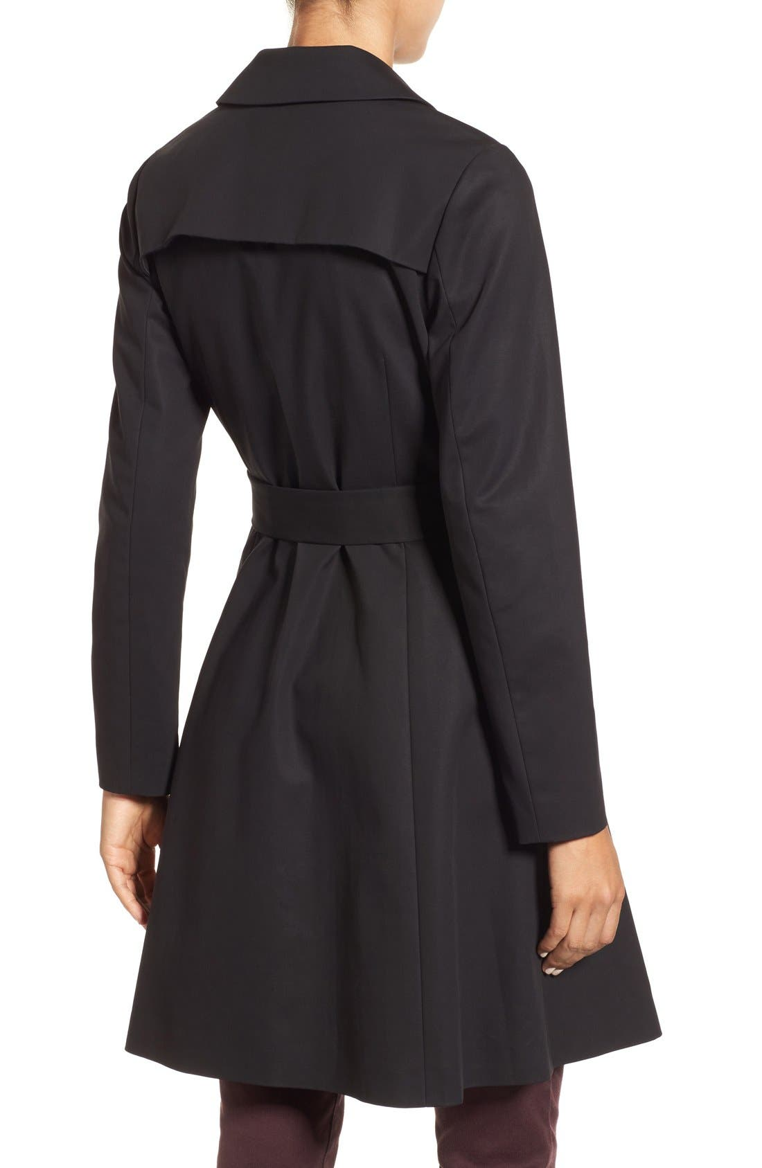 Double Breasted Trench Coat,                             Alternate thumbnail 5, color,                             001