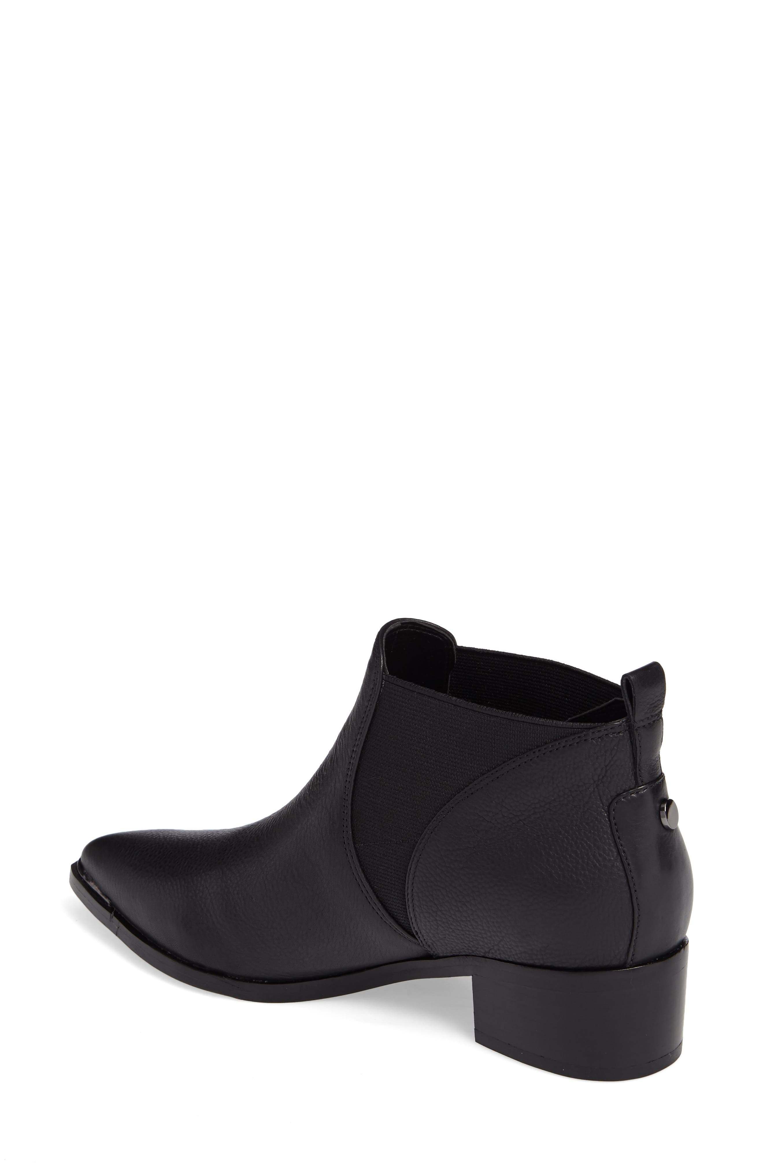 Yellin Pointy Toe Chelsea Boot,                             Alternate thumbnail 2, color,                             001