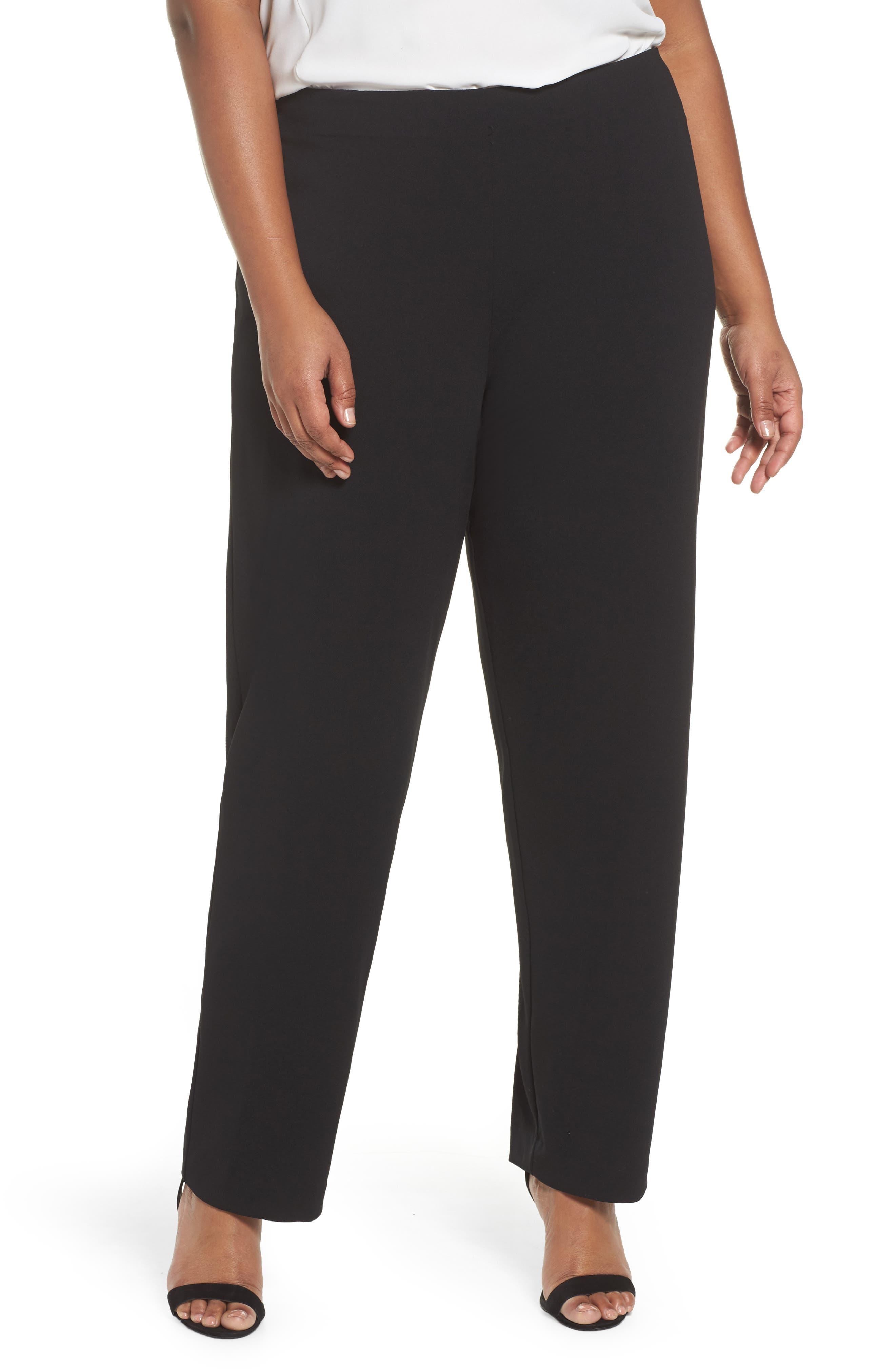 Slim Leg Pants,                         Main,                         color, BLACK