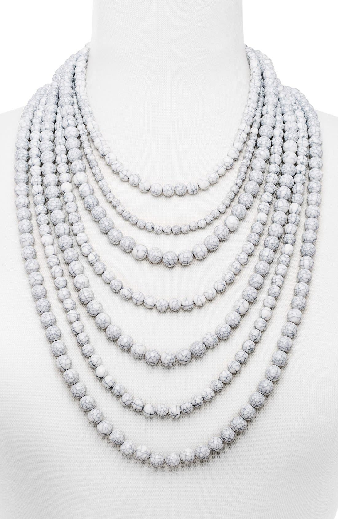'Bold' Multistrand Beaded Statement Necklace,                             Alternate thumbnail 14, color,