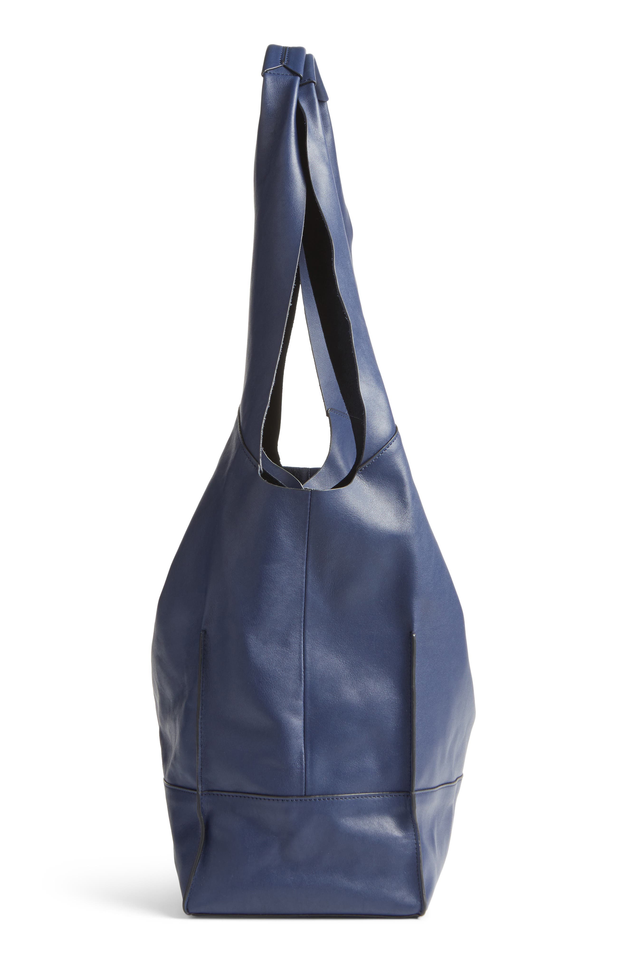 Walker Leather Tote,                             Alternate thumbnail 4, color,