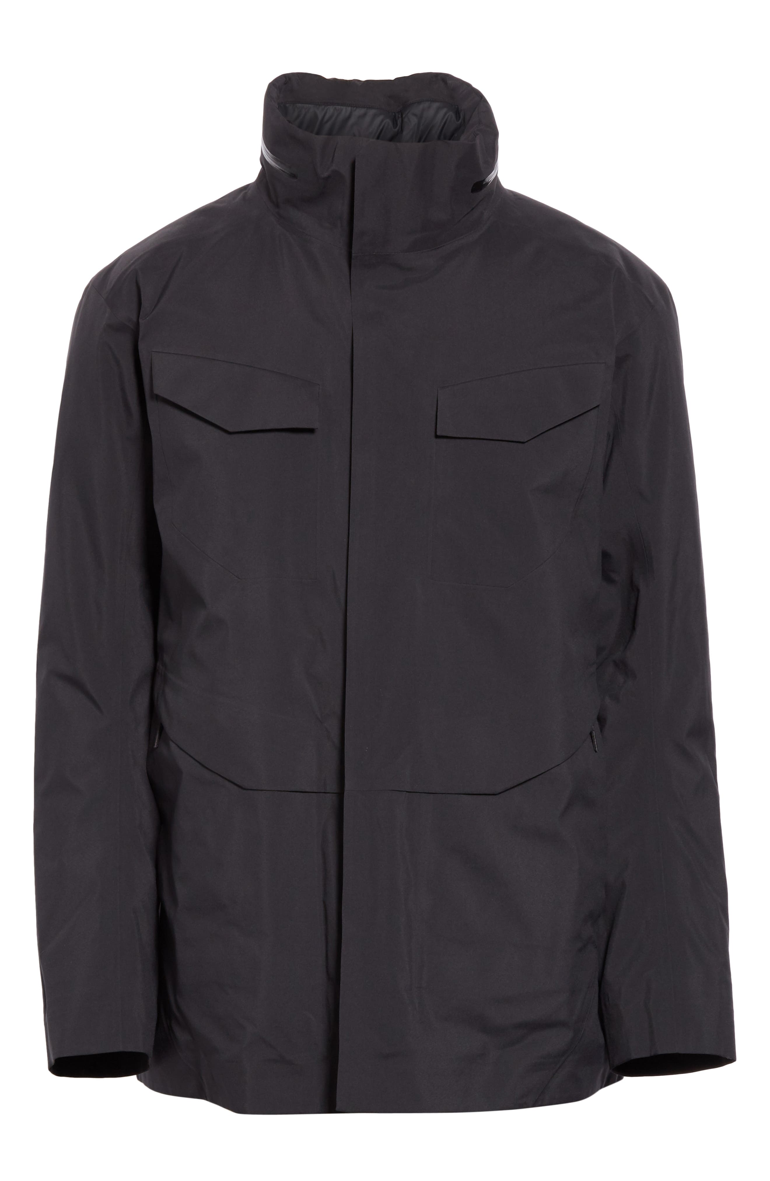 Gore-Tex<sup>®</sup> Pro Waterproof/Windproof Insulated Field Jacket,                             Main thumbnail 1, color,                             BLACK