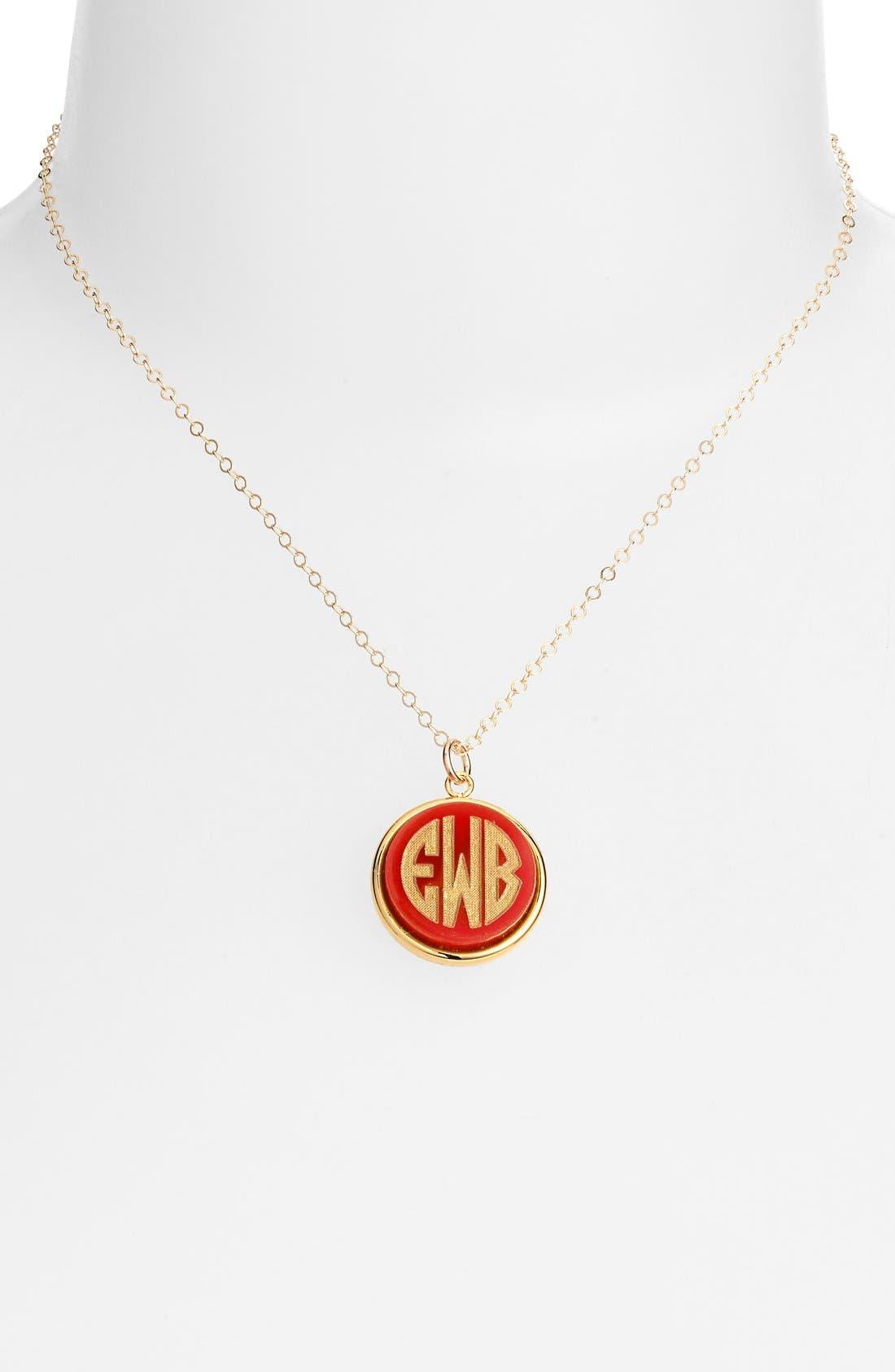 'Vineyard' Personalized Monogram Pendant Necklace,                             Main thumbnail 8, color,