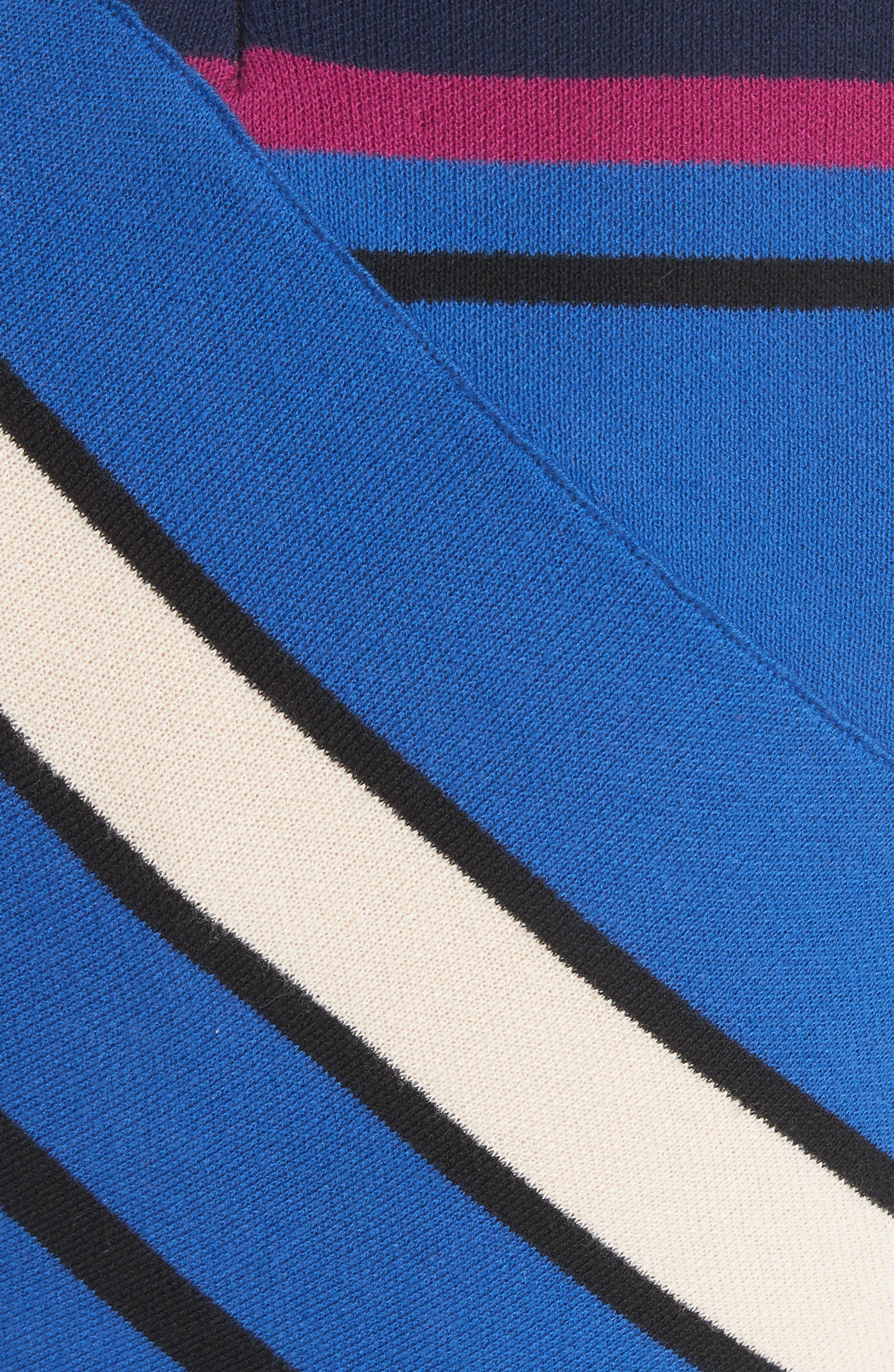 Stripe Crop Cotton Top,                             Alternate thumbnail 5, color,                             498