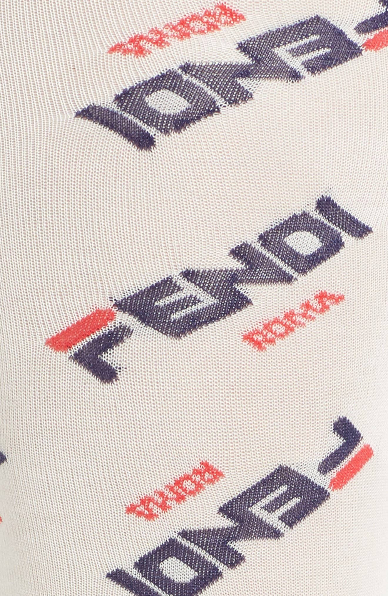 FENDI,                             x FILA Mania Logo Tights,                             Alternate thumbnail 2, color,                             WHITE MULTI