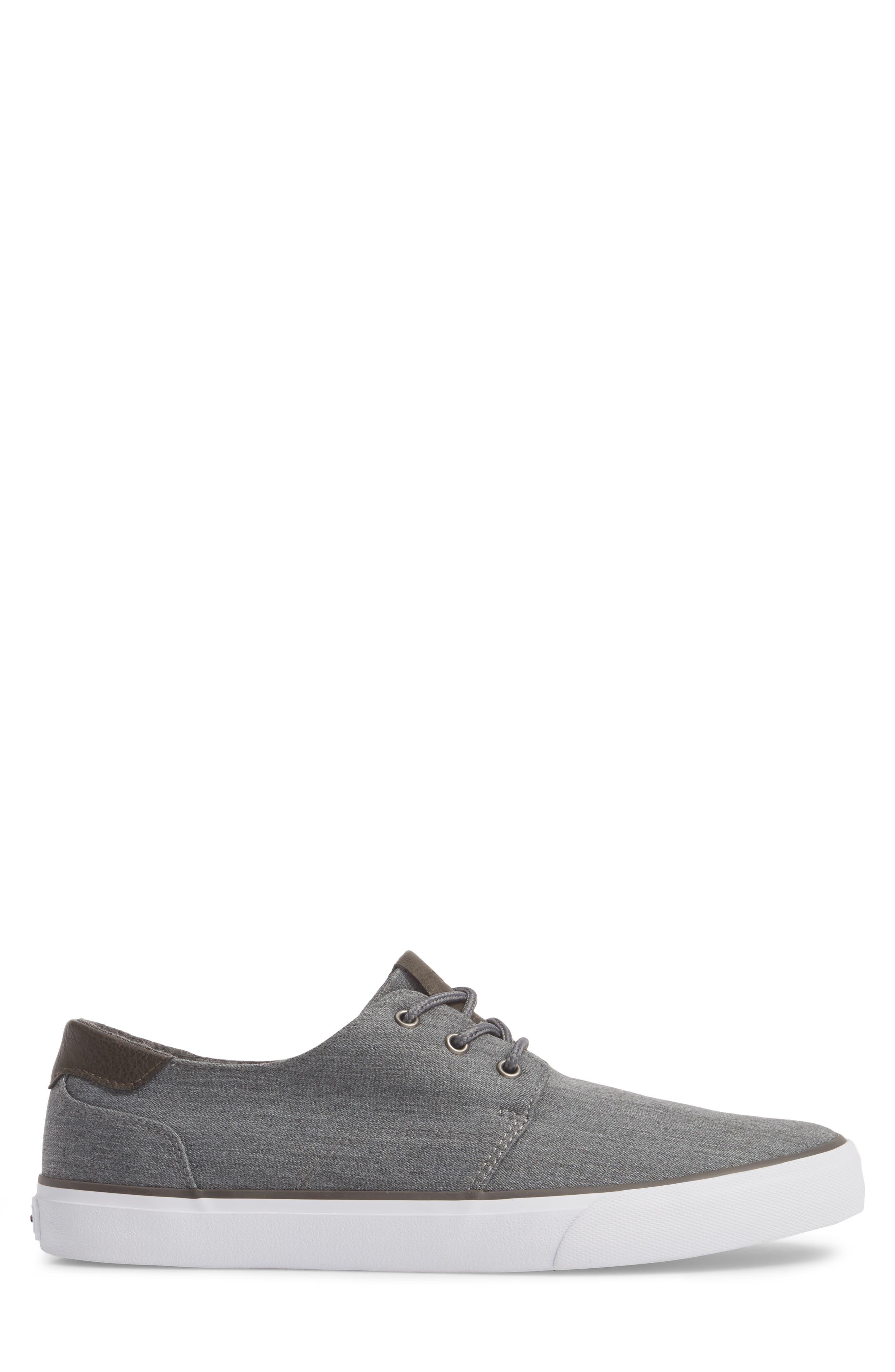 Briggs Low Top Sneaker,                             Alternate thumbnail 3, color,                             CHARCOAL/ DARK GREY/ WHITE