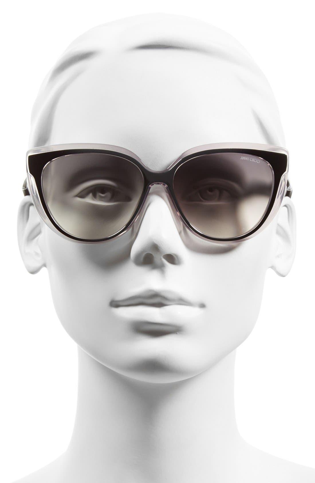 'Cindy' 57mm Retro Sunglasses,                             Alternate thumbnail 6, color,