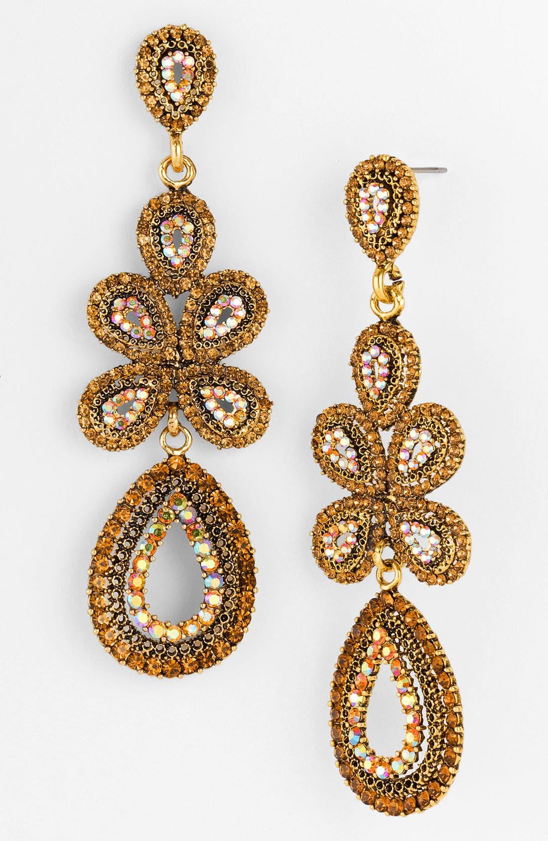 'Ornate' Linear Statement Earrings,                             Main thumbnail 7, color,