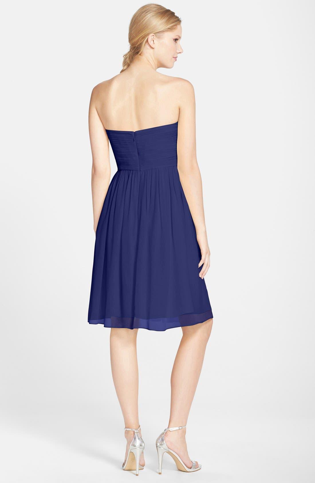 'Morgan' Strapless Silk Chiffon Dress,                             Alternate thumbnail 109, color,