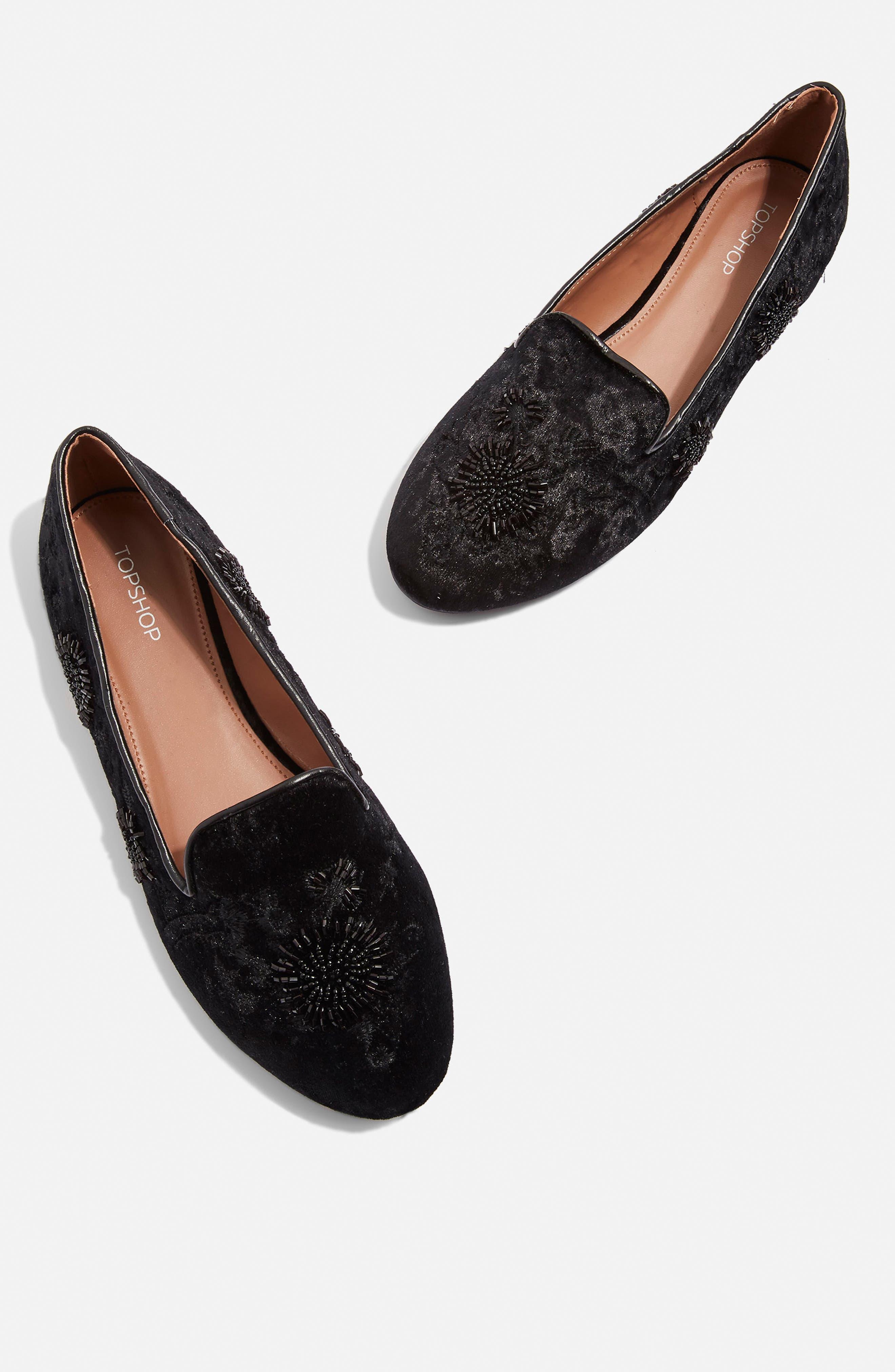 Syrup Embellished Loafer,                             Alternate thumbnail 8, color,                             BLACK